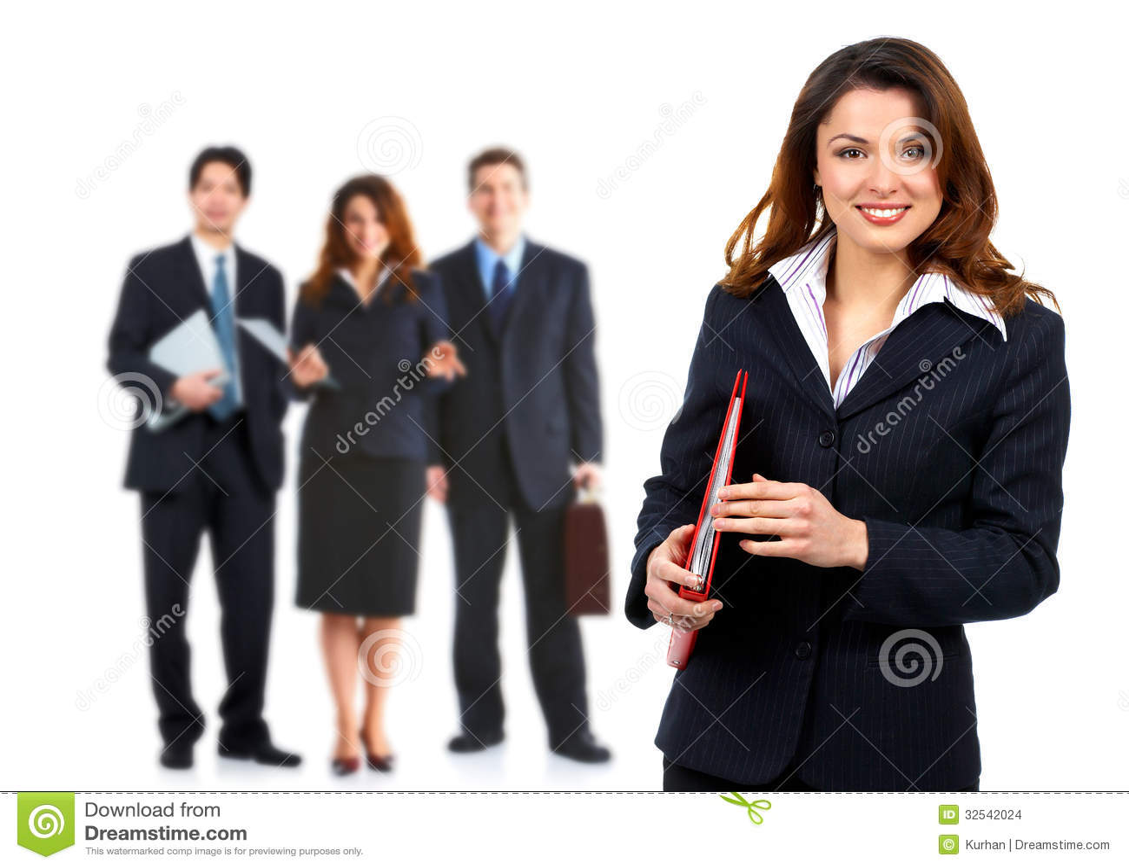 Biznesowa kobieta.
