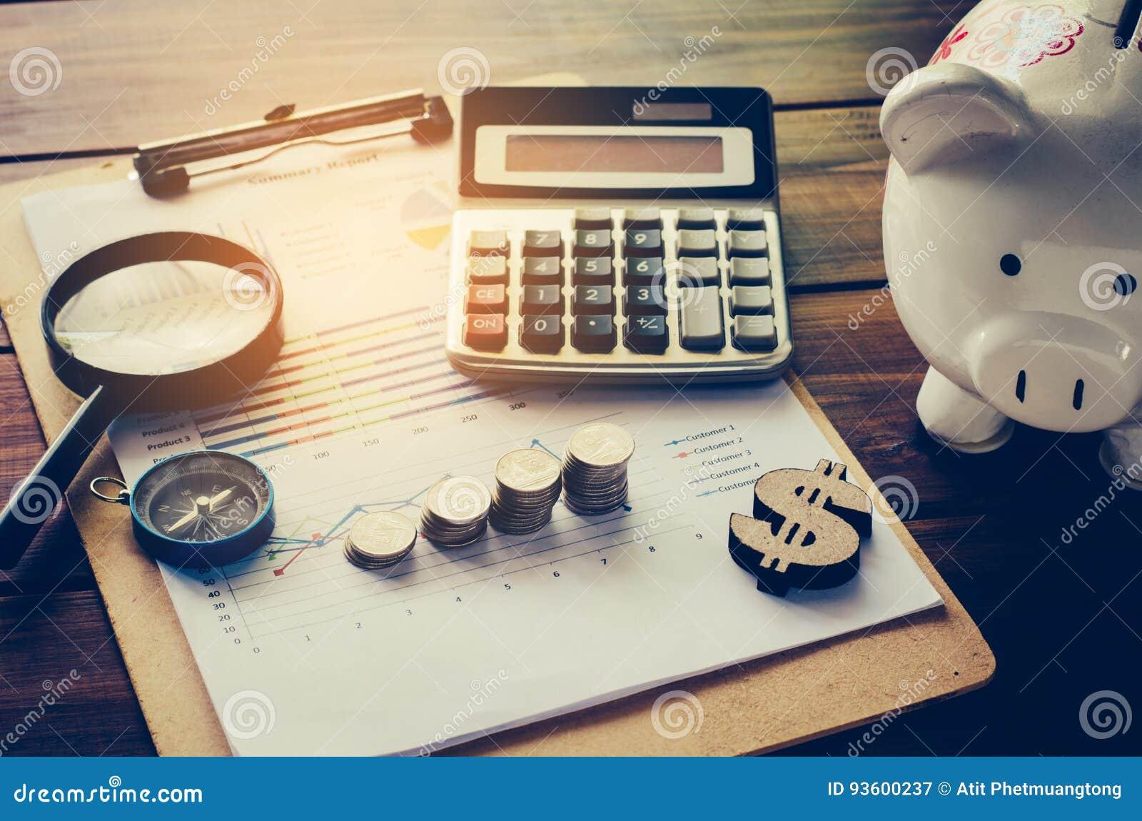 Biznesowa Pieniężnego planowania Pieniężna analiza dla Korporacyjnego Gro