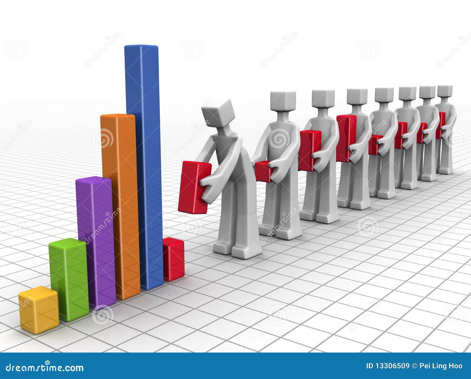 Biznesowa pojęcia występu praca zespołowa