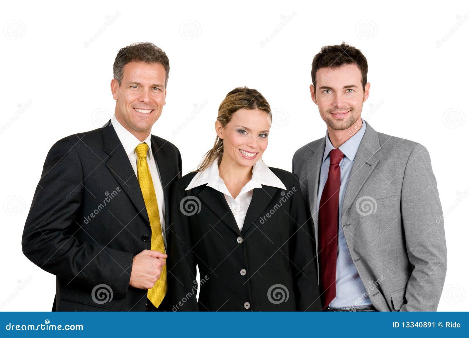 Biznesowa pomyślna drużyna