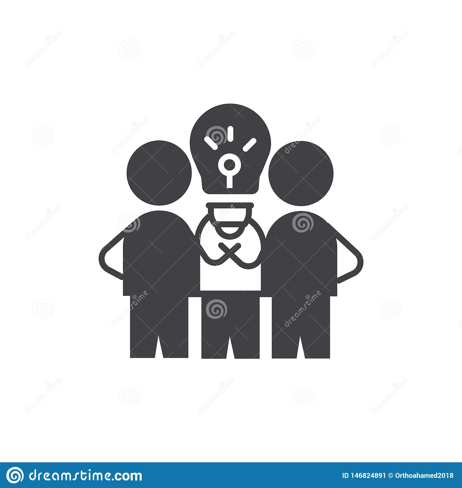Biznesowa pomys? ikona wektoru szyldowy symbol