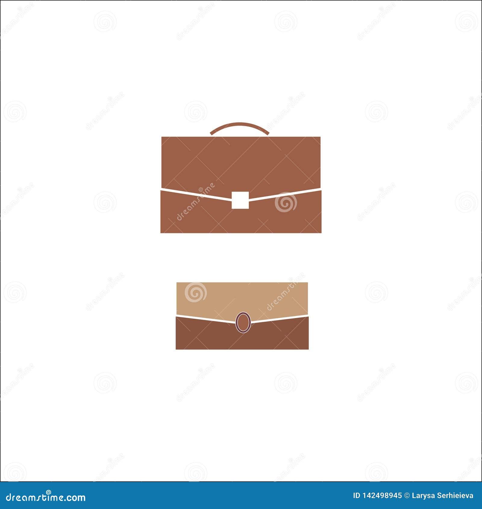 Biznesowa teczka, torba, ilustracja, symbol