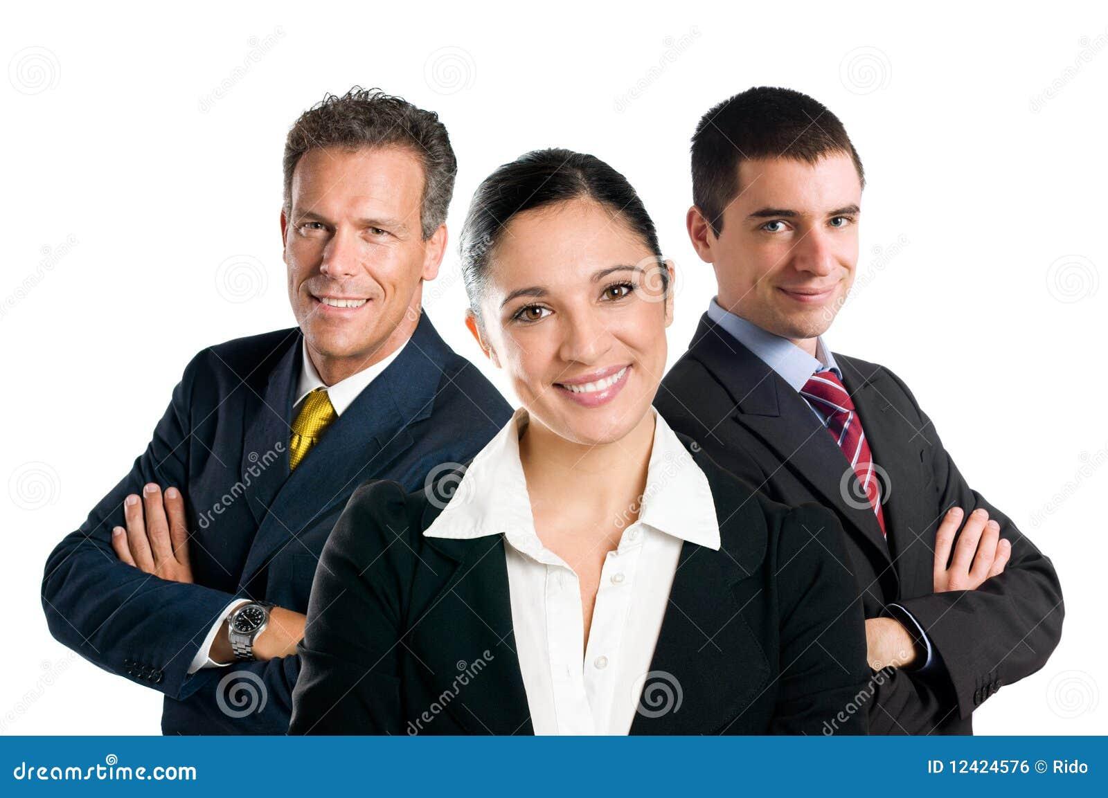 Biznesowa uśmiechnięta drużyna