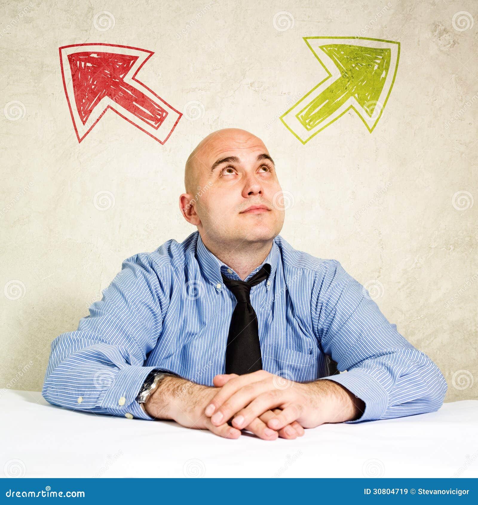 Biznesowa wyboru lub robić decyzja