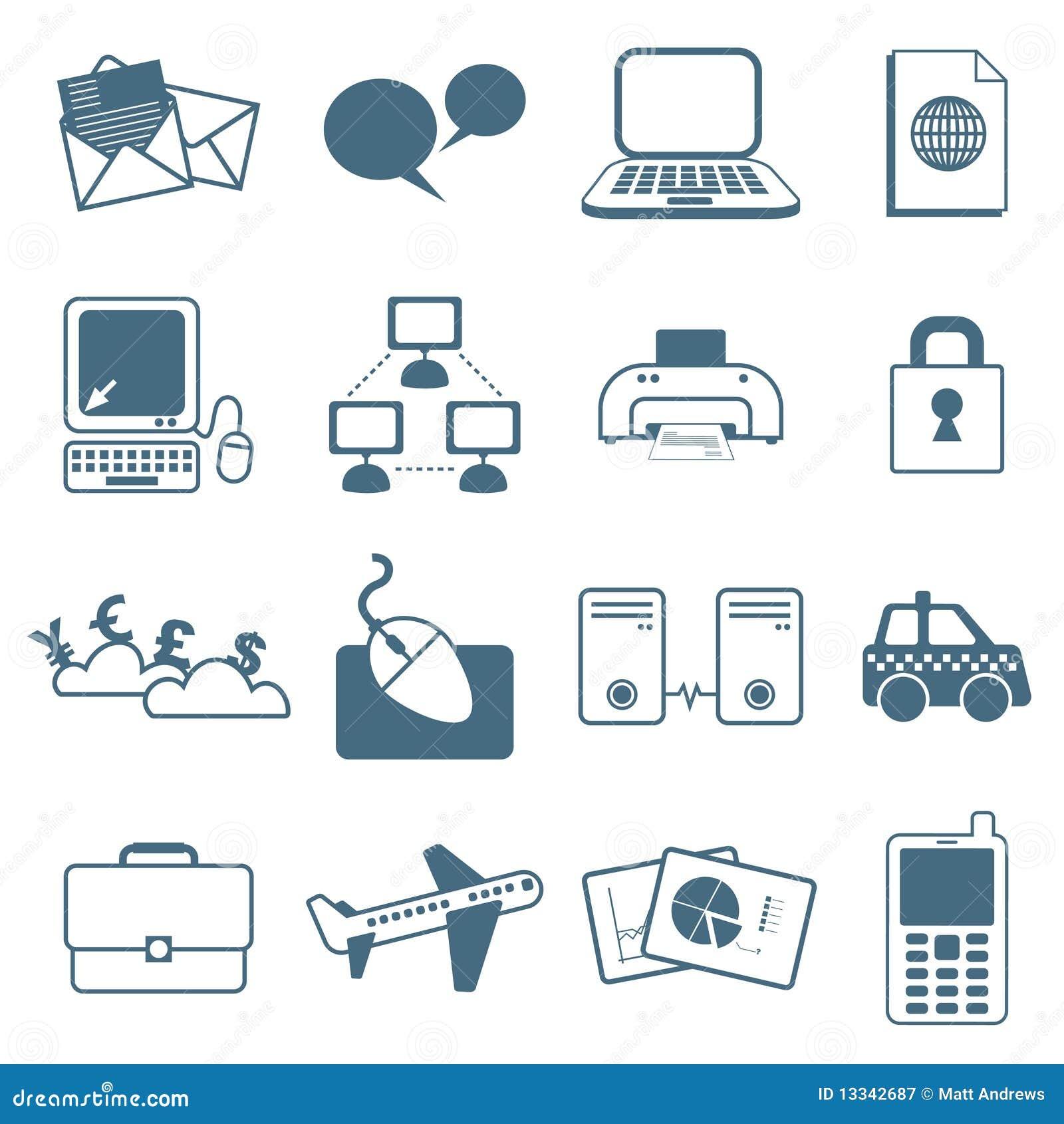 Biznesowe ikony