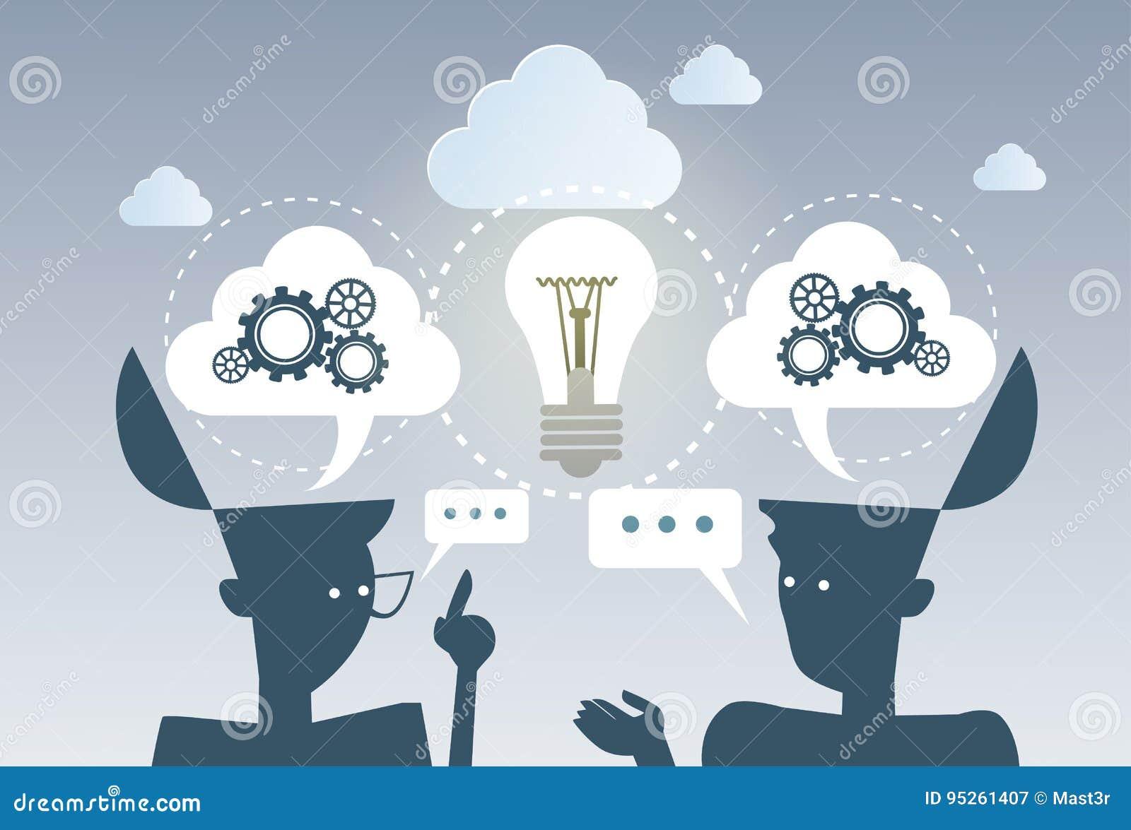 Biznesowego Brainstorming procesu pomysłu Cog koła pracy projekta strategii Nowy pojęcie Wpólnie