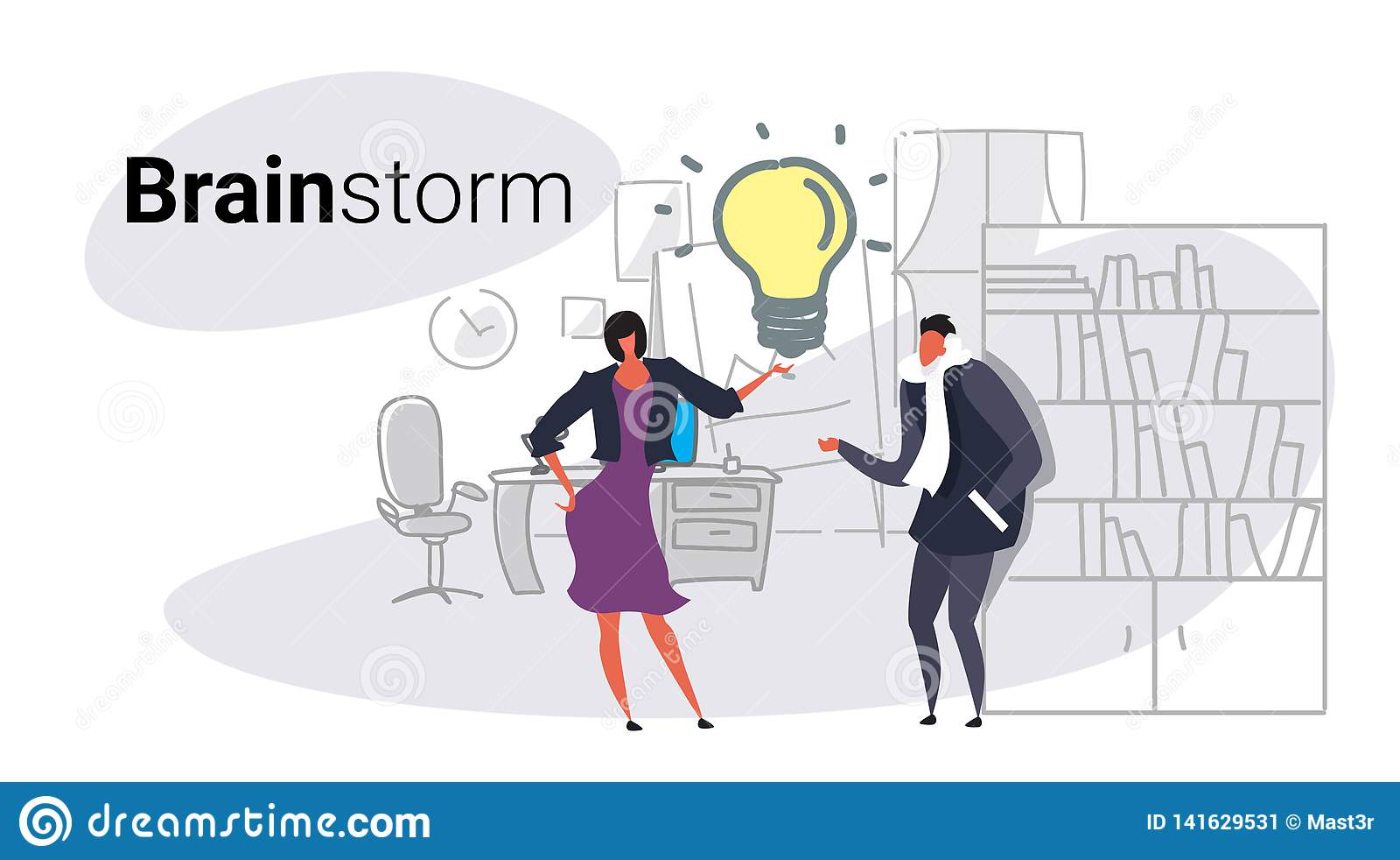 Biznesowego mężczyzny kobiety pary spotkania brainstorming procesu biznesmenów innowacji drużynowy myślący nowy kreatywnie światł