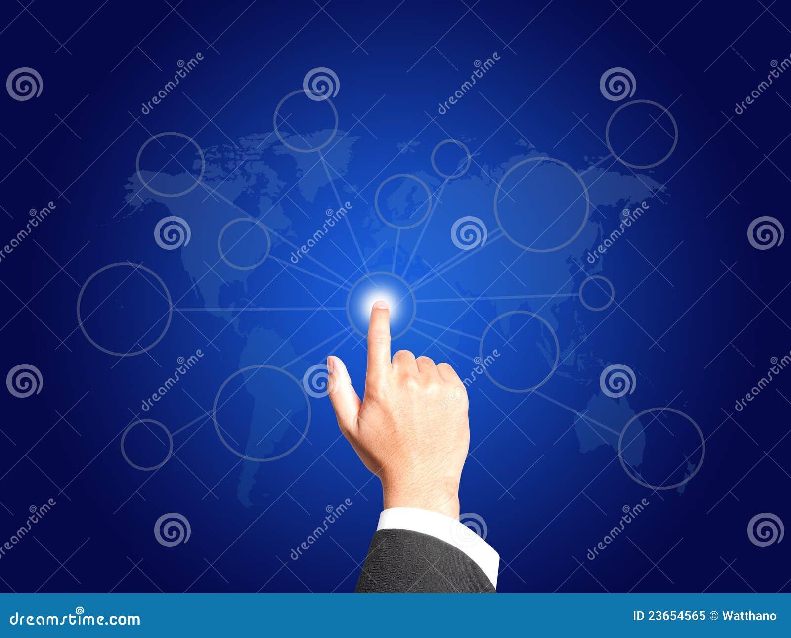 Biznesowego pojęcia podłączeniowa ręka