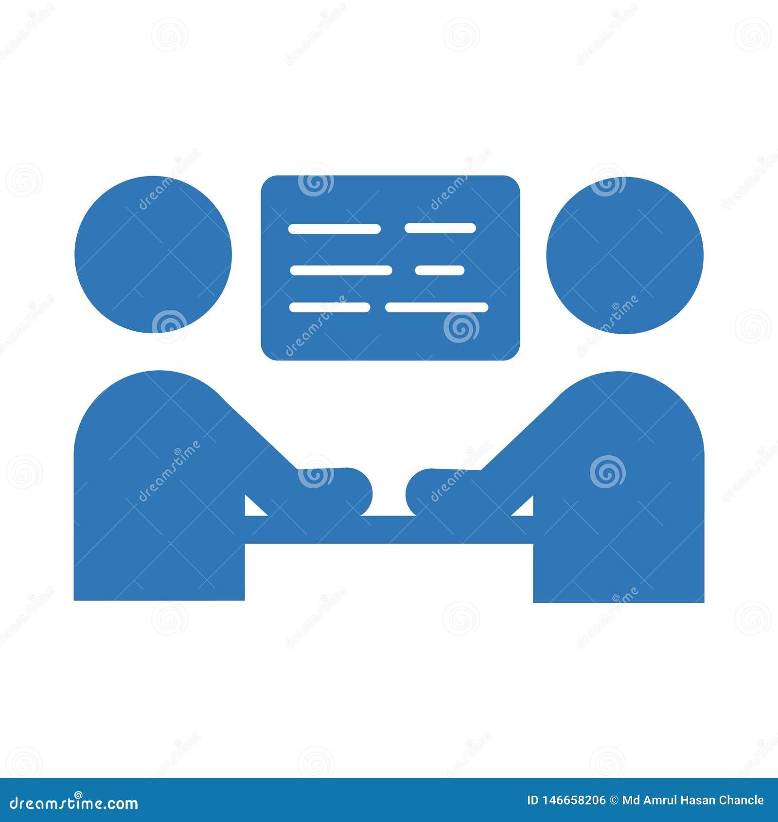 Biznesowego spotkania ikona wektoru szyldowy symbol