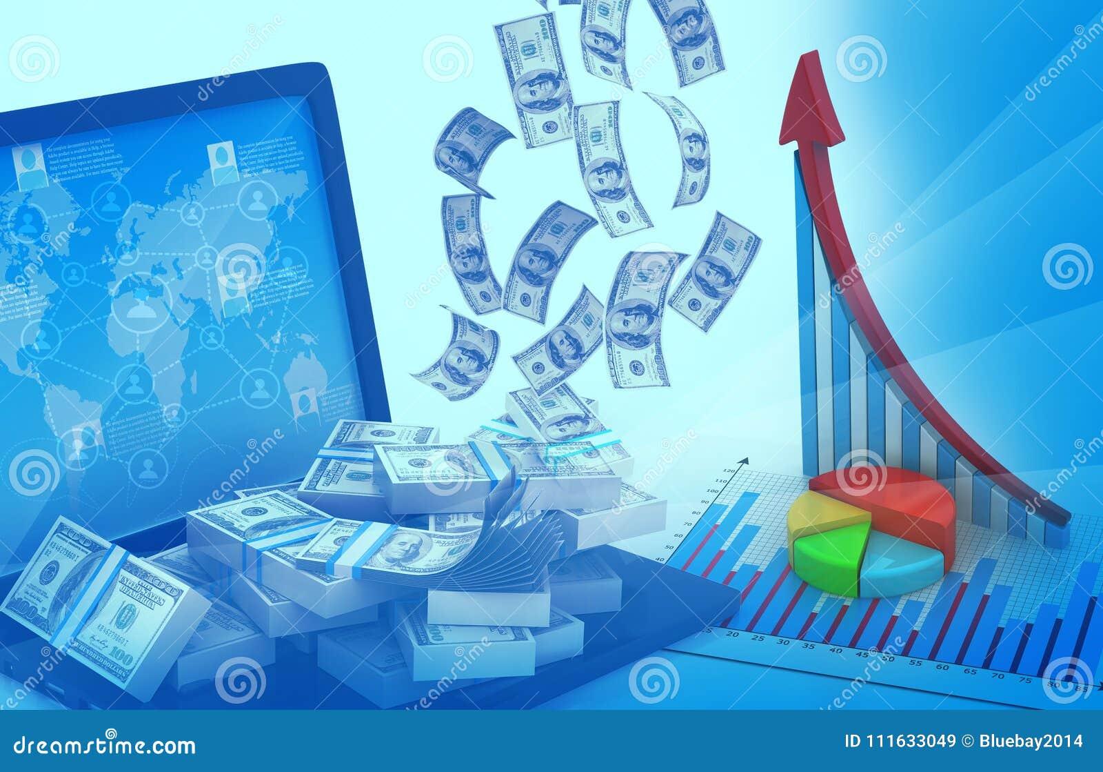 Biznesowego wykresu tło