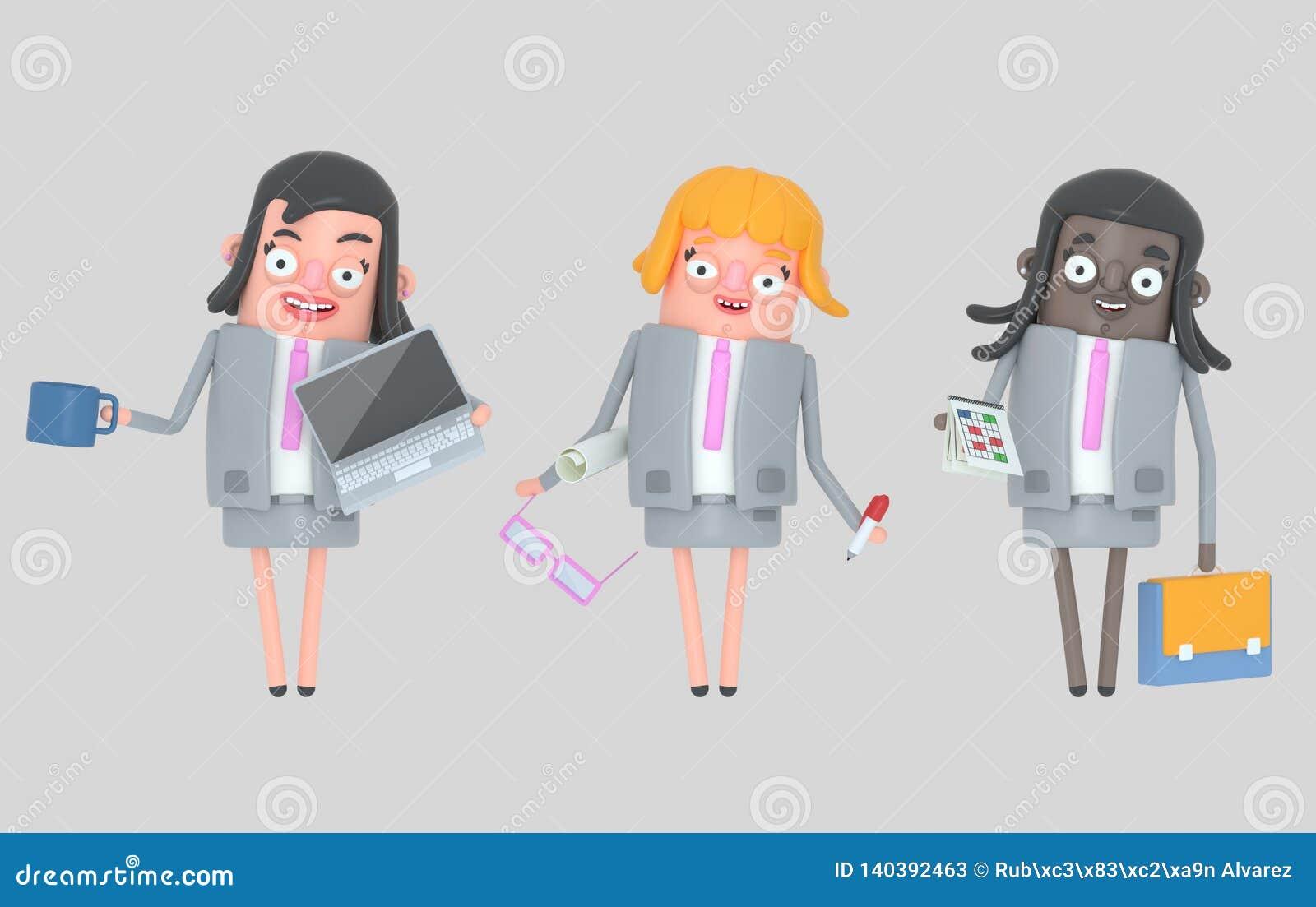 Biznesowej kobiety pracy zespołowej pozycja odosobniony