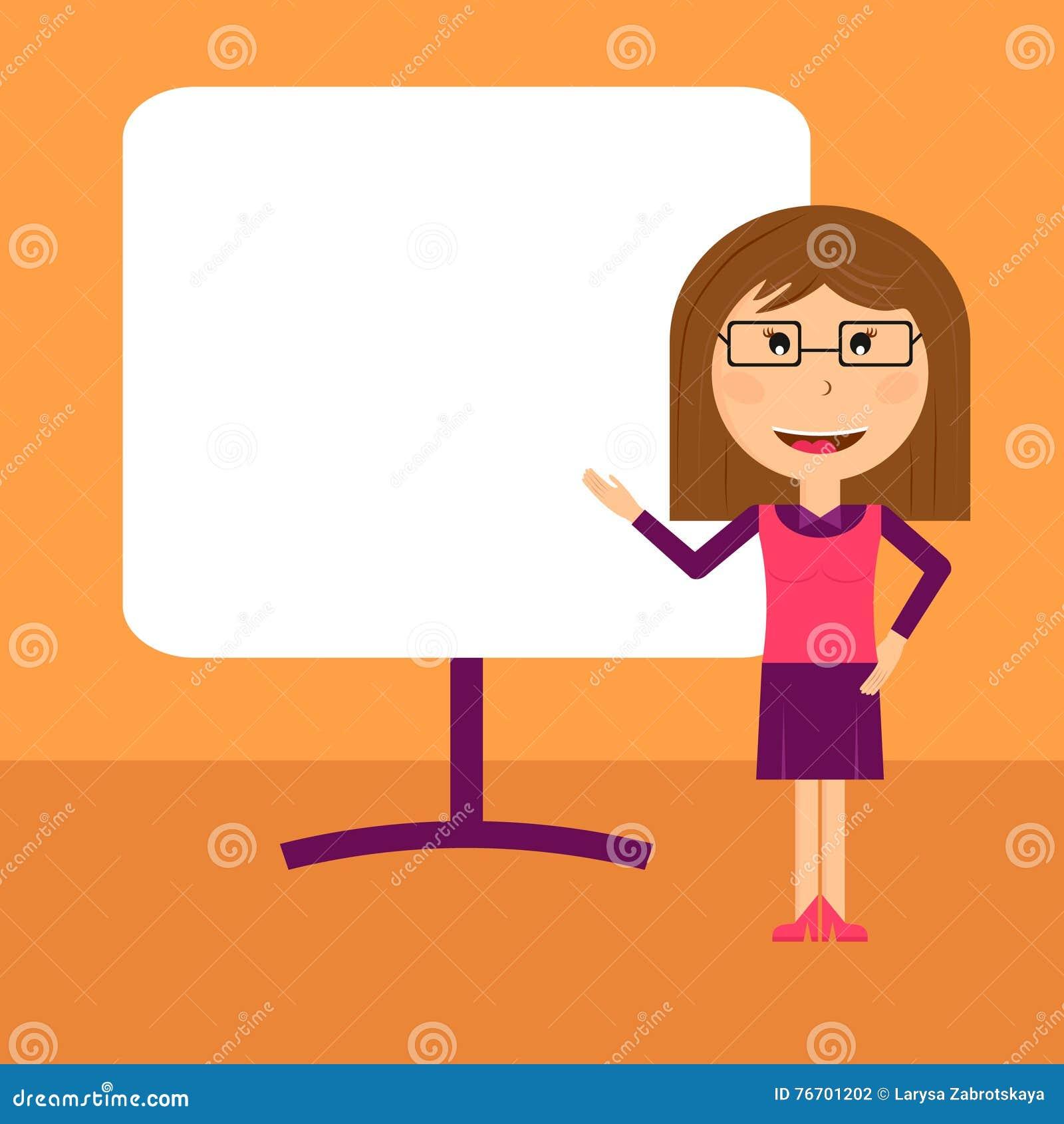 Biznesowej kobiety prezentacja