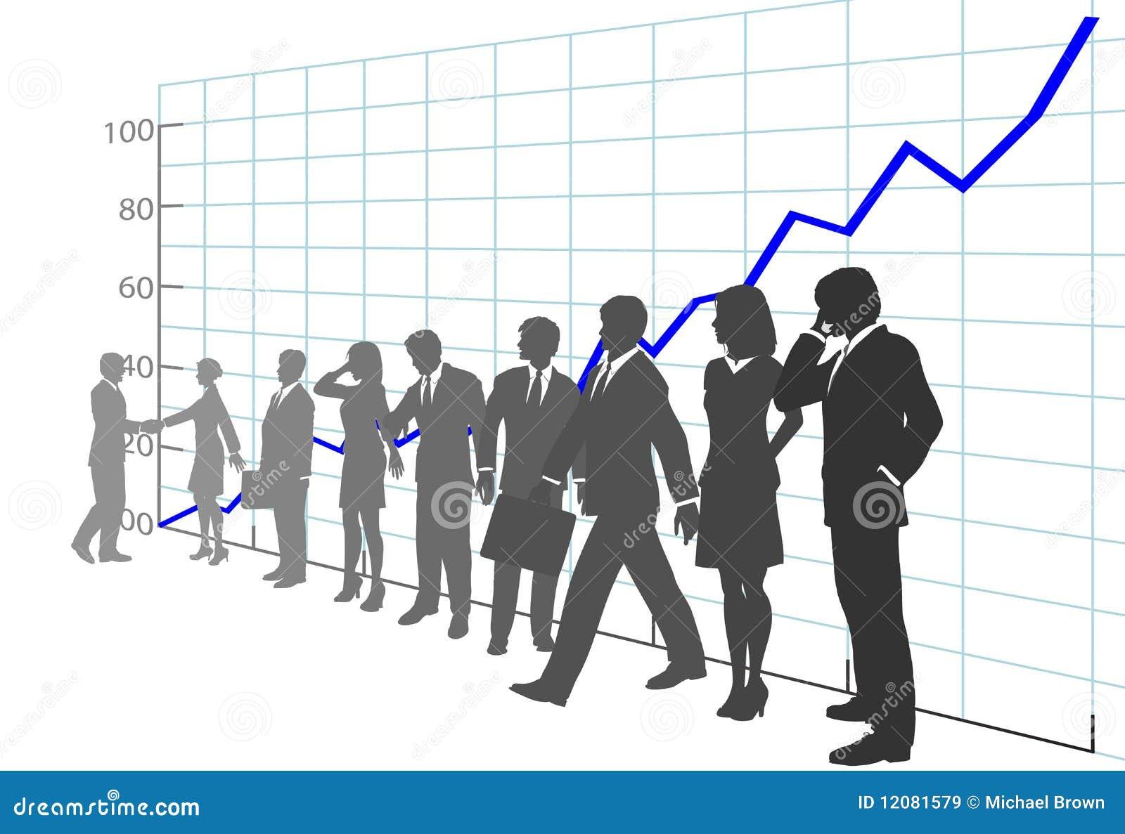 Biznesowej mapy wzrostowi ludzie zysku drużyny