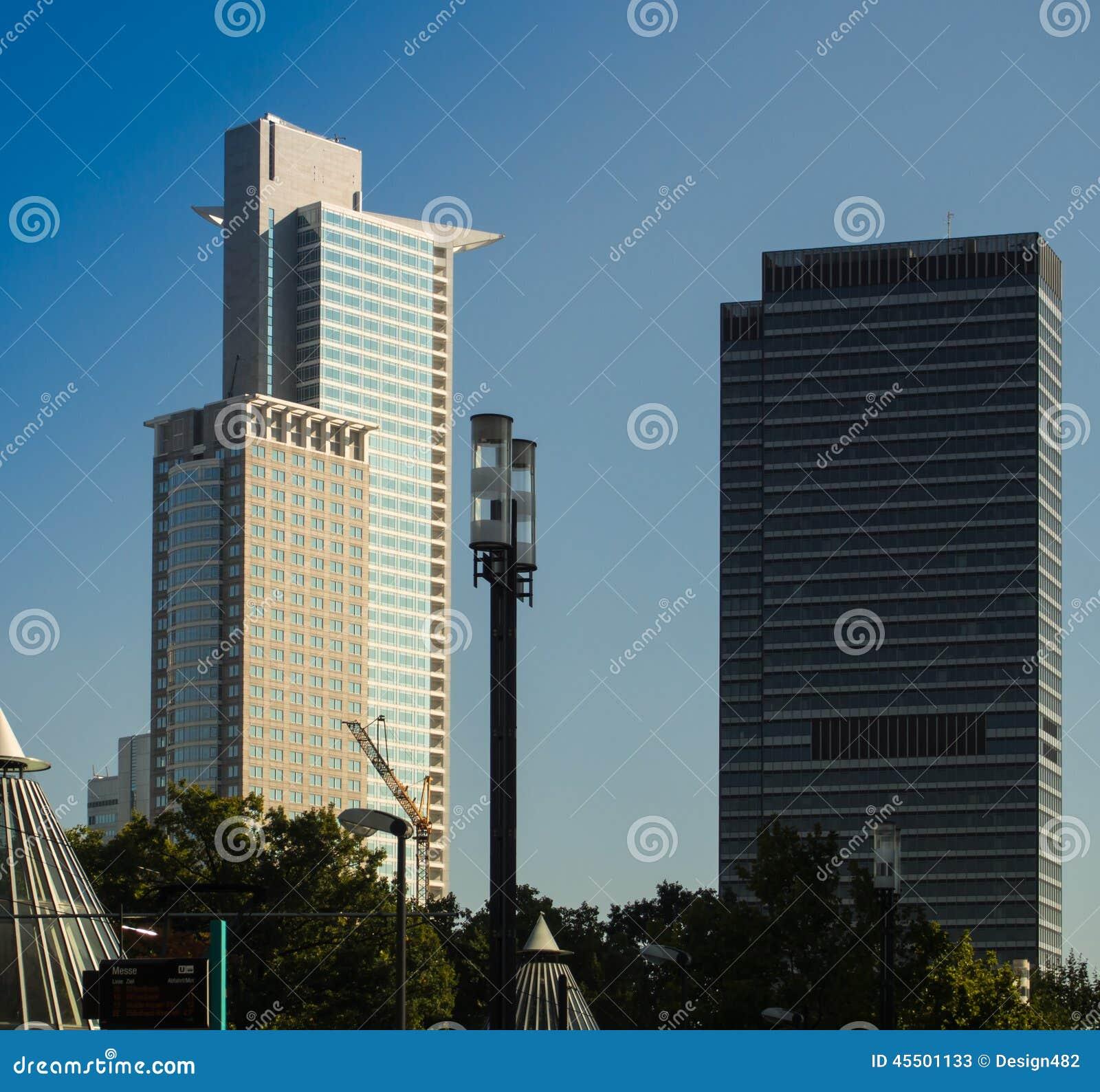 Biznesowi budynki w Frankfurt, Niemcy
