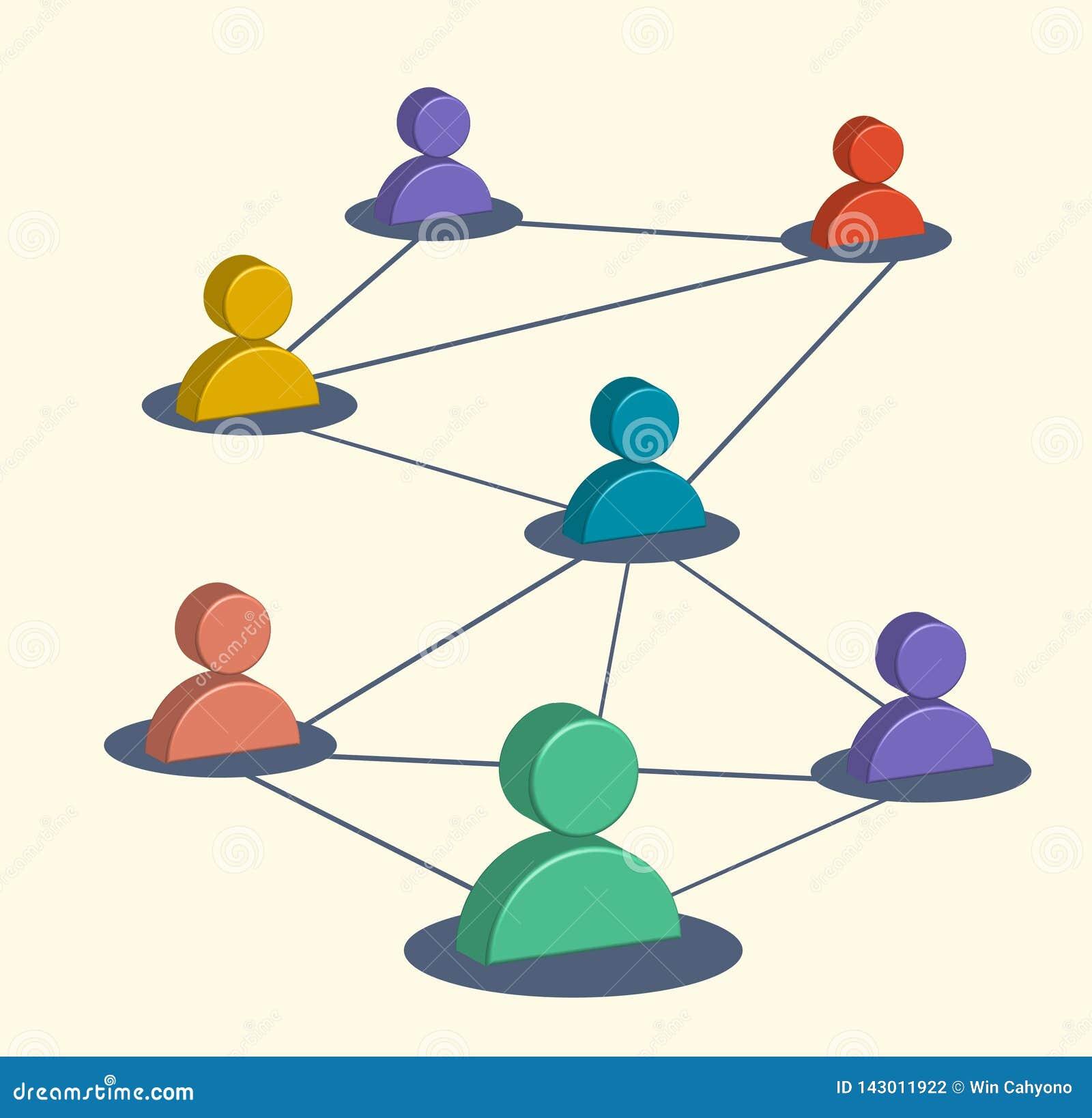Biznesowi ogólnospołeczni środki, marketingowi symbole, użytkownik sieć