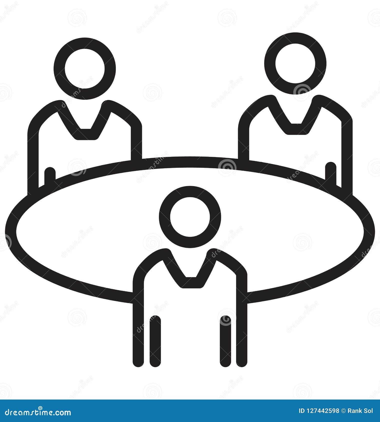 Biznesowi spotkania, Trenuje kreskową odosobnioną wektorową ikonę mogą łatwo redagować i modyfikujący