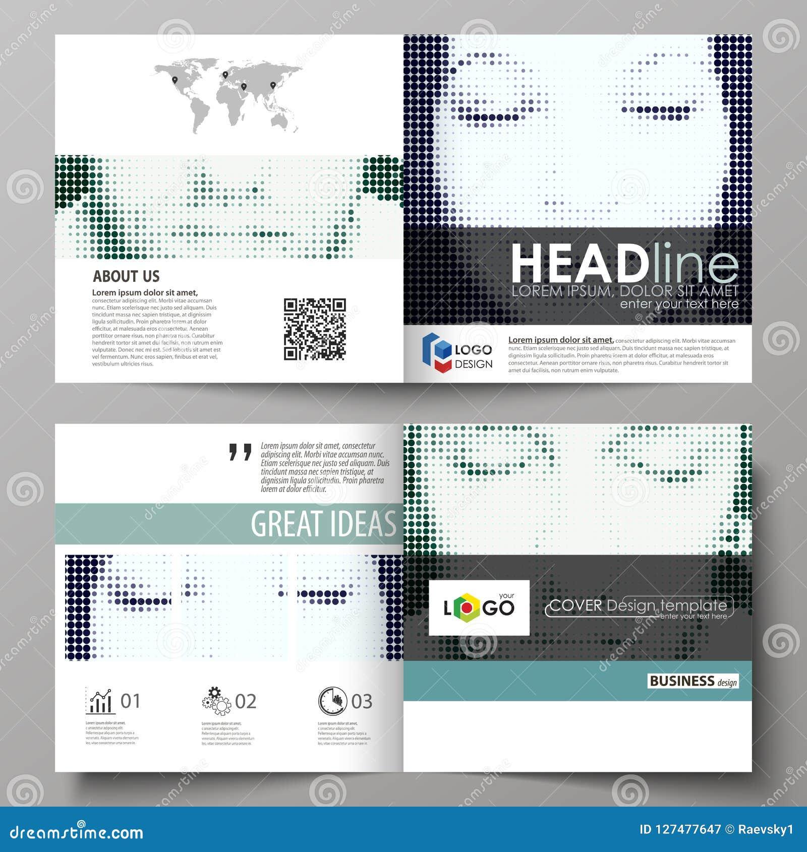 Biznesowi szablony dla kwadratowego projekta bi składają broszurkę, magazyn, ulotka Ulotki pokrywa, abstrakcjonistyczny wektorowy