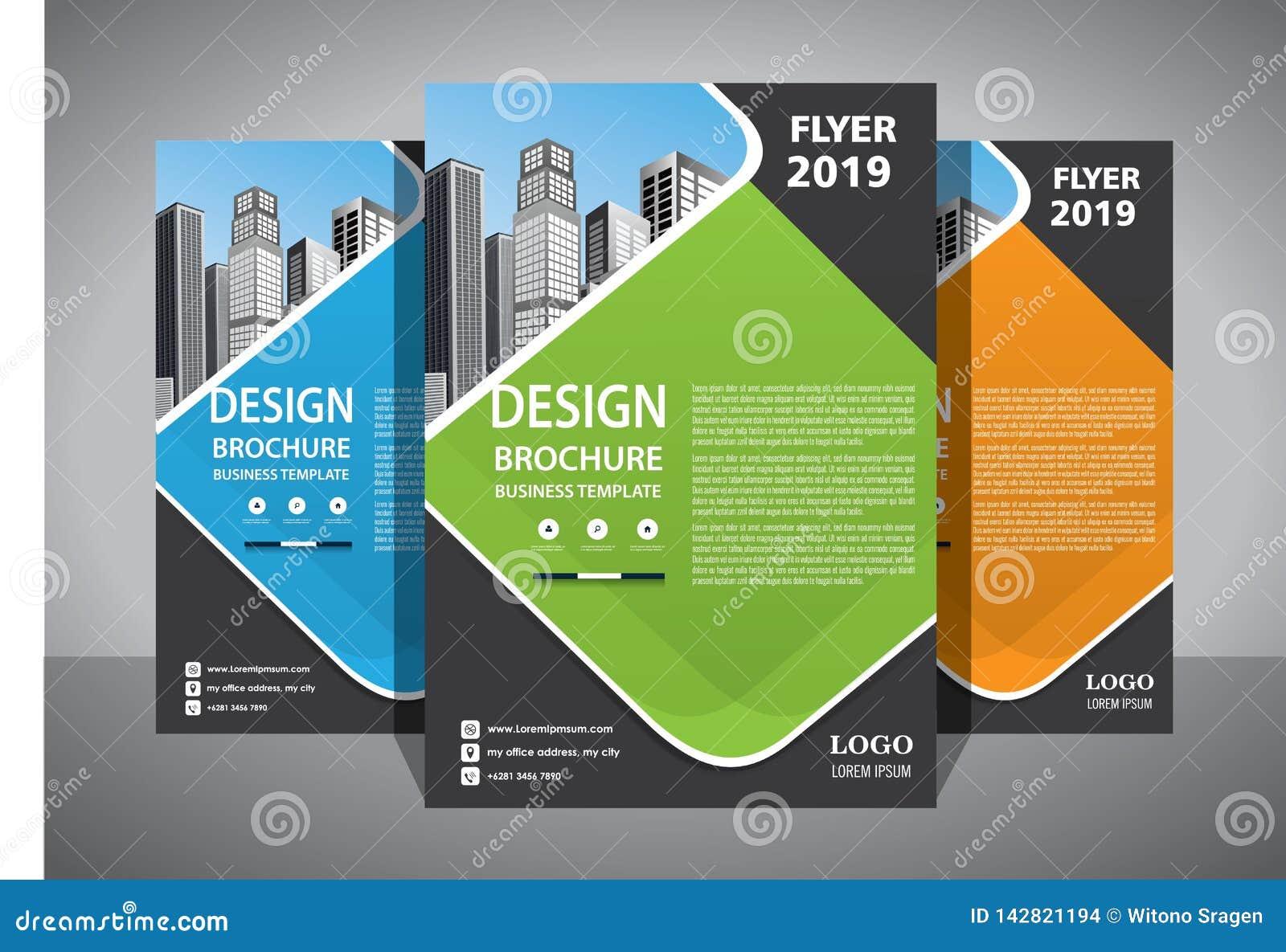 Biznesowy abstrakcjonistyczny wektorowy szablon Broszurka projekt, okładkowy nowożytny układ, sprawozdanie roczne, plakat, ulotka