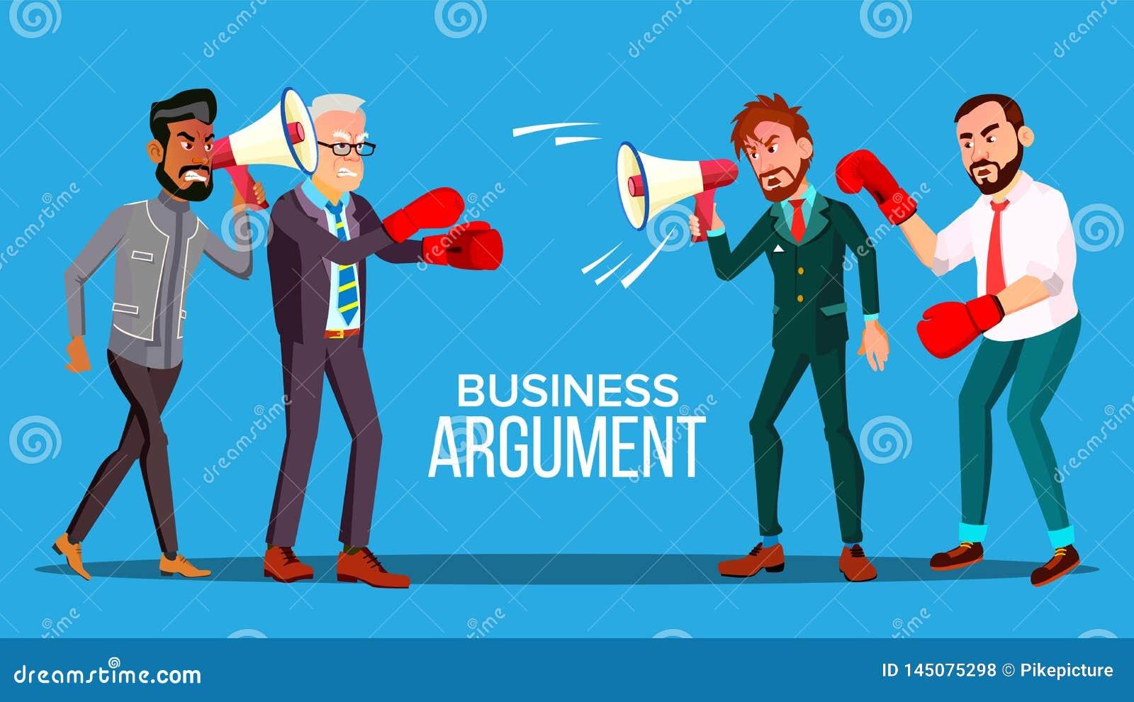 Biznesowy argument sieci sztandaru kreskówki wektoru szablon