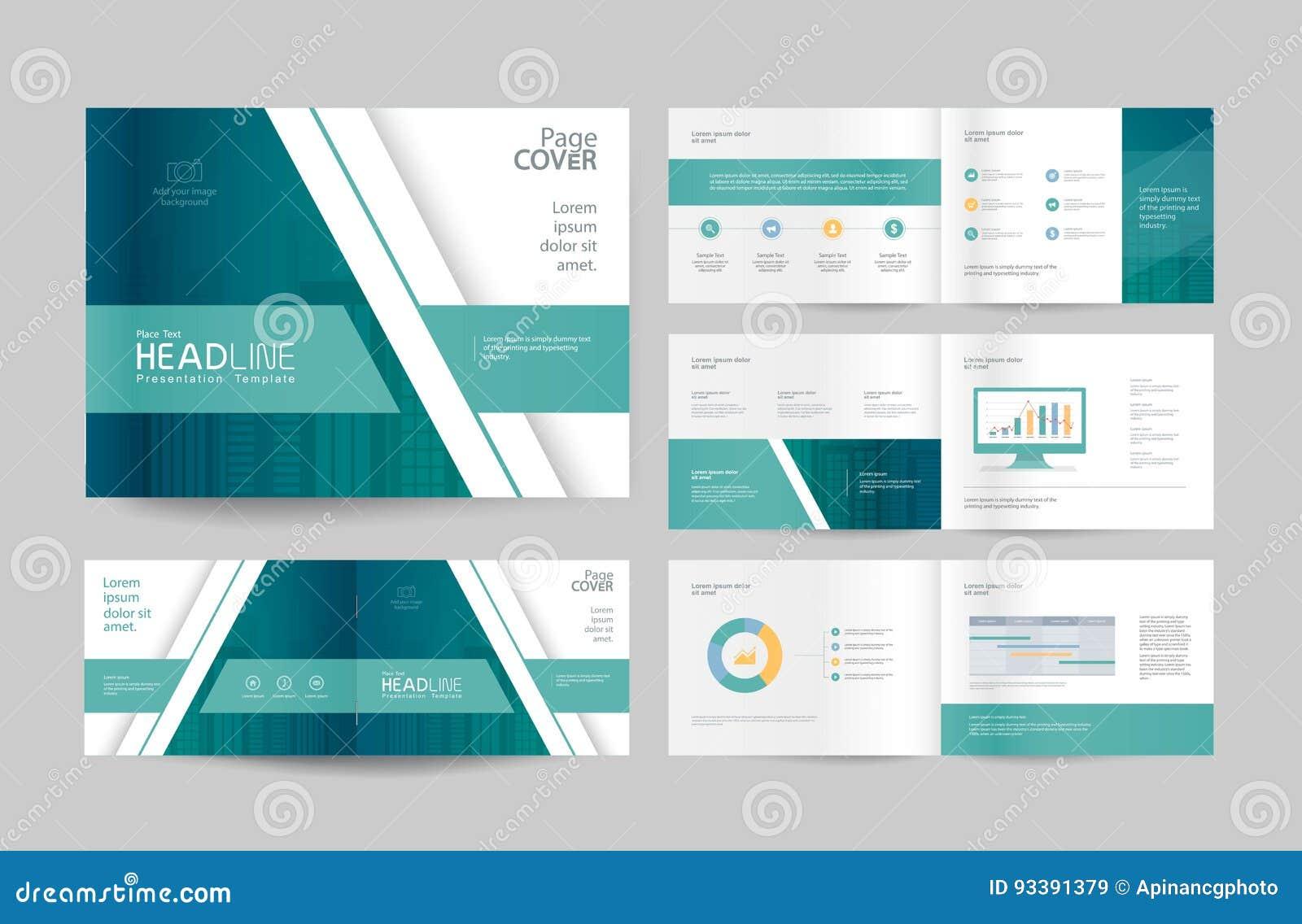 Biznesowy broszurka projekta strony i szablonu układ dla firma profilu