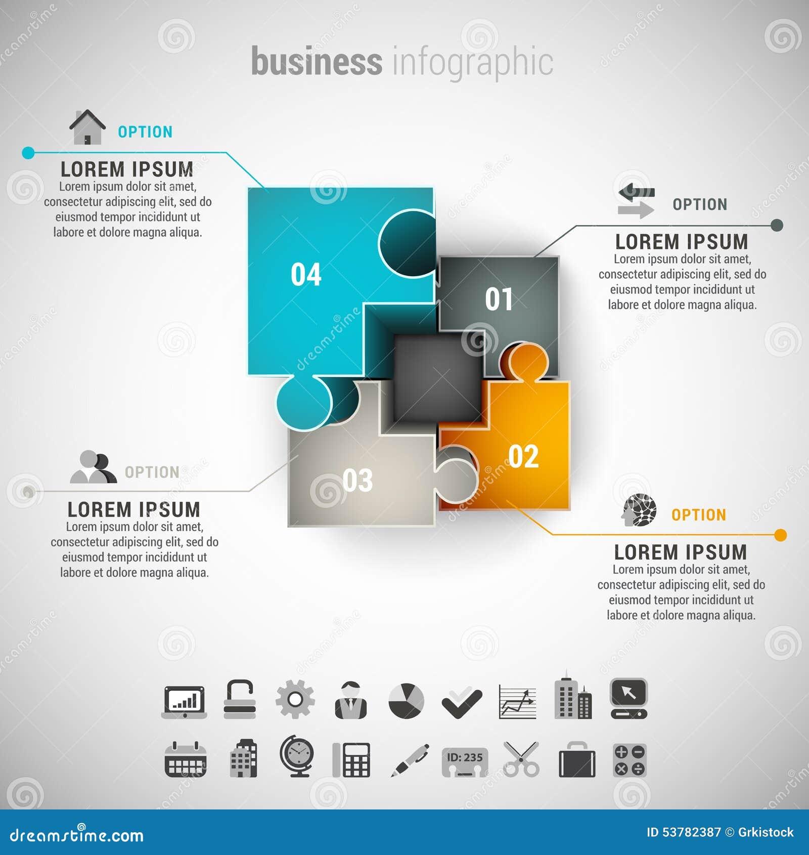 Biznesowy Infographic