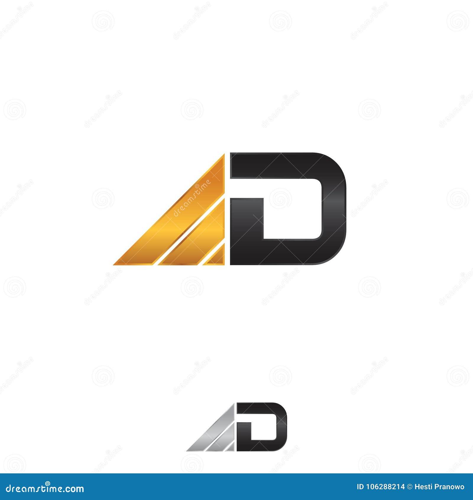 Biznesowy korporacyjny listowy d loga projekta szablon na białym tle
