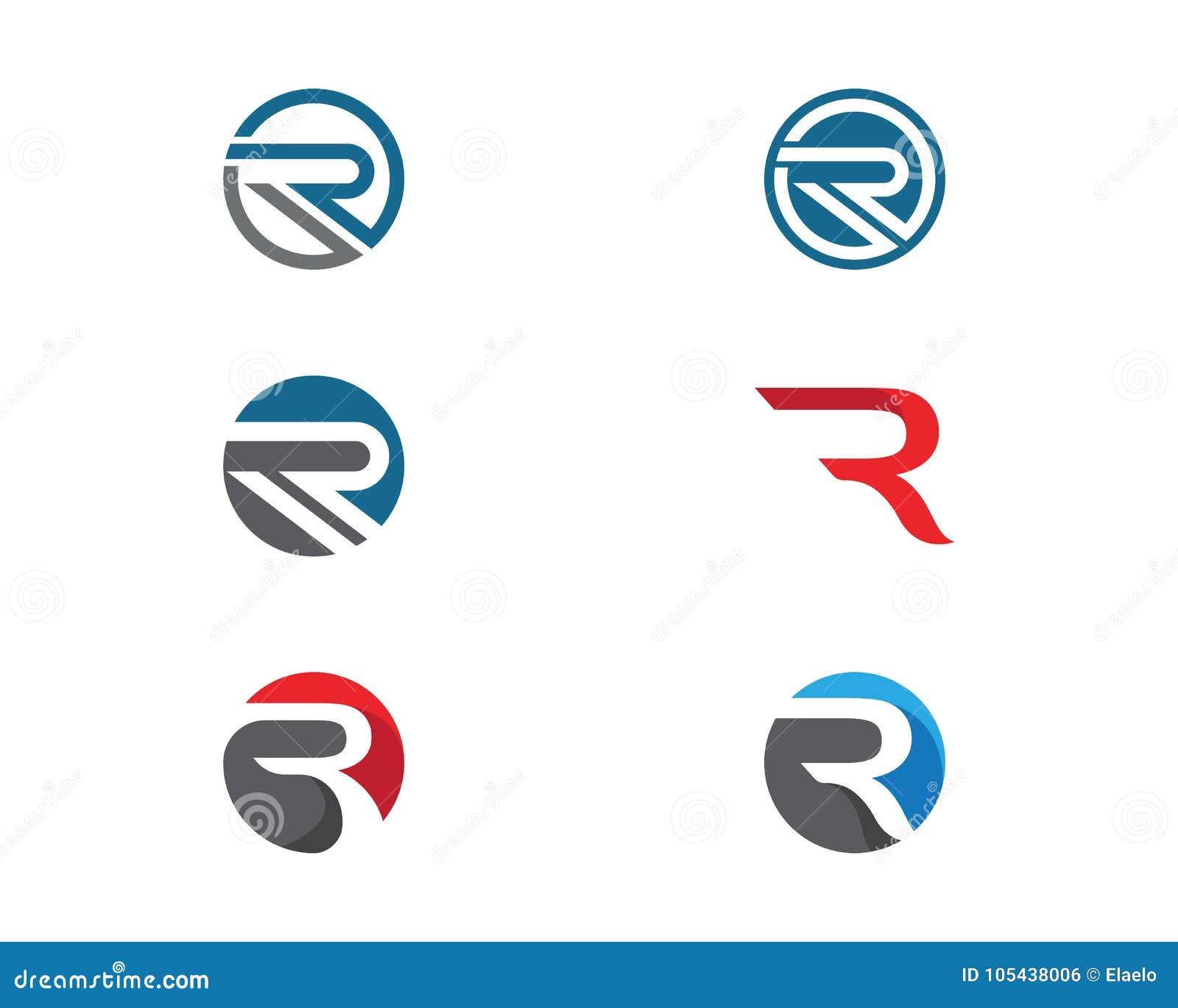 Biznesowy korporacyjny R loga projekta wektor
