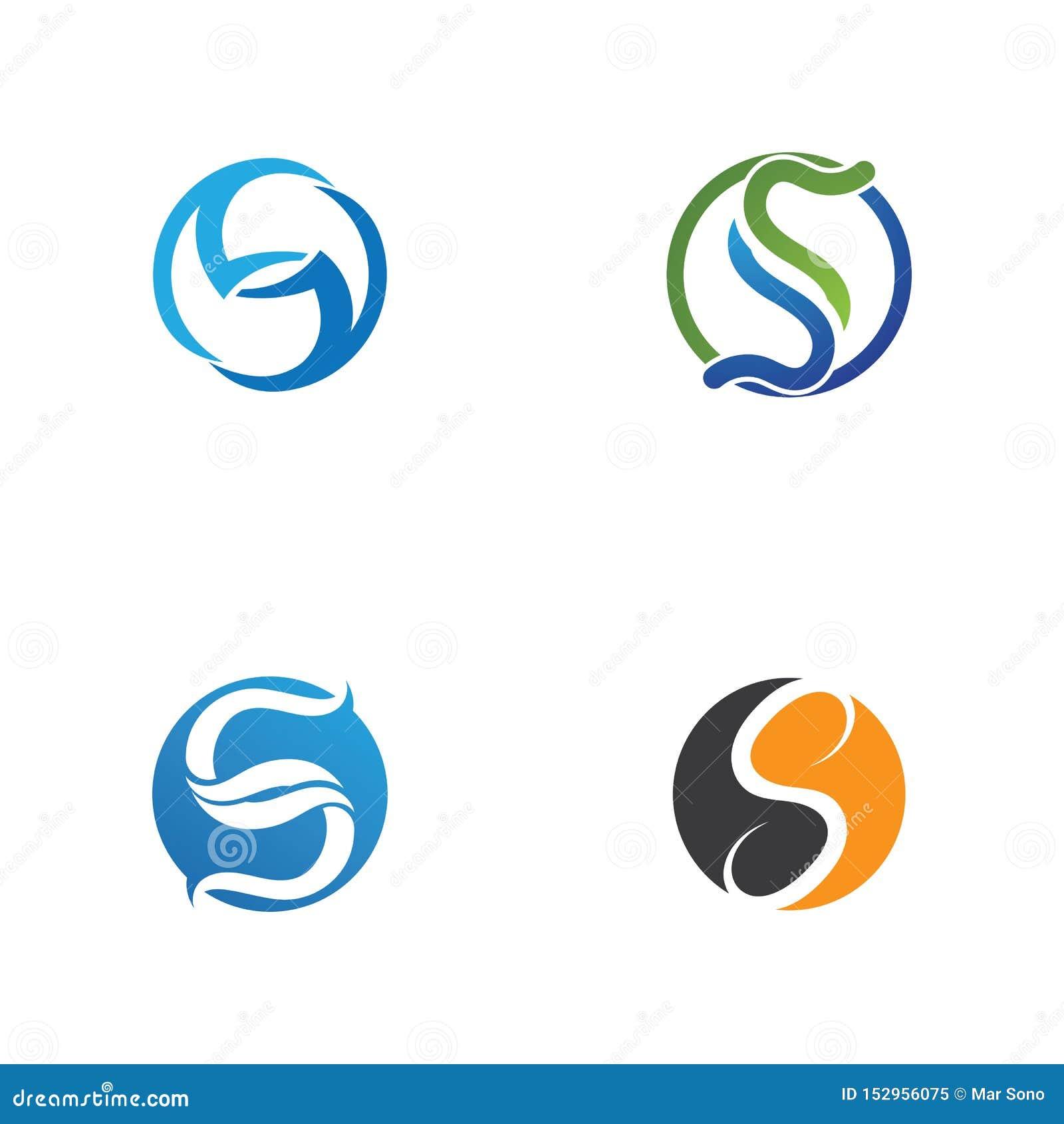 Biznesowy korporacyjny S listu logo
