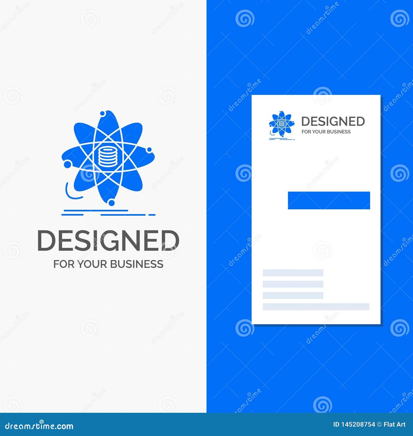 Biznesowy logo dla analizy, dane, informacja, badanie, nauka Pionowo B??kitny biznes, Odwiedza? Karcianego szablon/