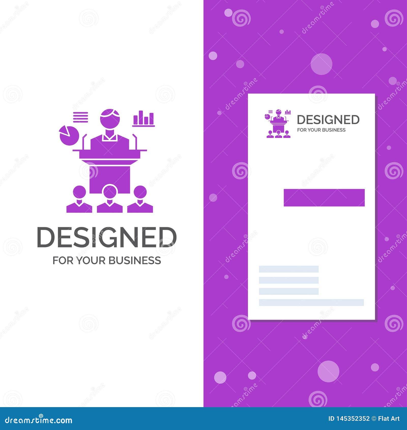 Biznesowy logo dla biznesu, konferencja, konwencja, prezentacja, konwersatorium Pionowo Purpurowy biznes, Odwiedza? Karcianego sz