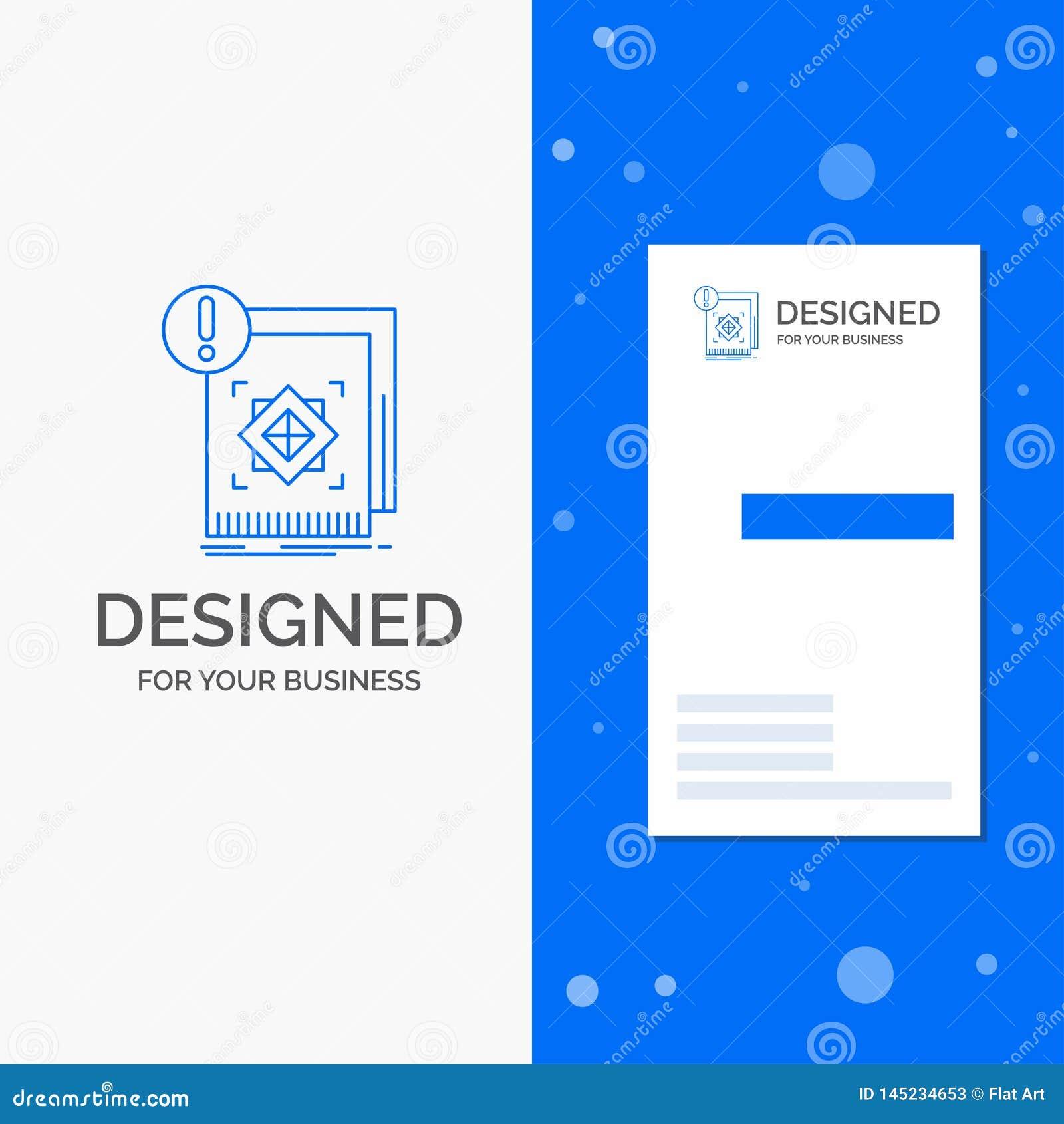 Biznesowy logo dla struktury, standard, infrastruktura, informacja, ostrzeżenie Pionowo B??kitny biznes, Odwiedza? Karcianego sza