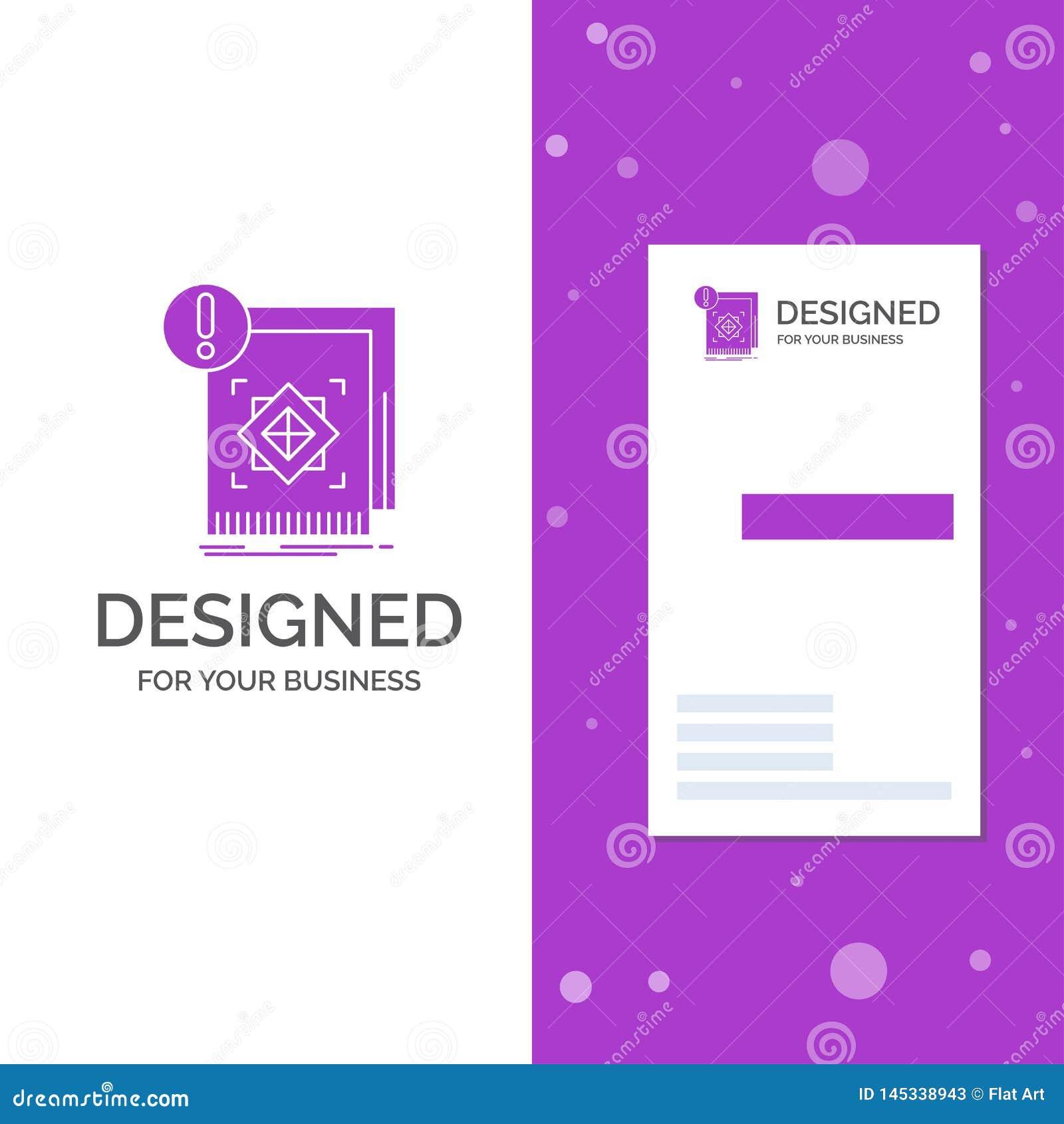 Biznesowy logo dla struktury, standard, infrastruktura, informacja, ostrze?enie Pionowo Purpurowy biznes, Odwiedza? Karcianego sz
