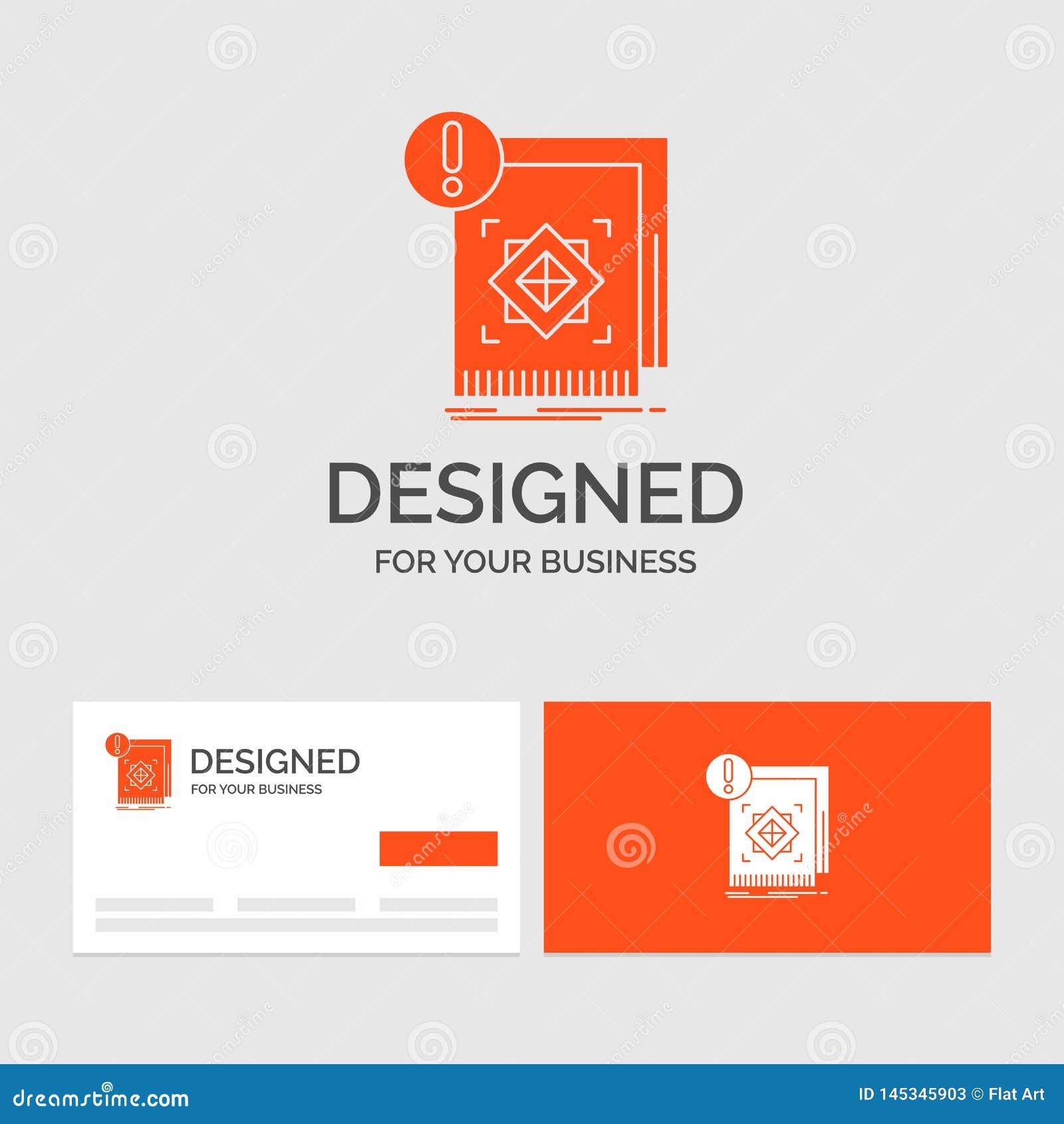 Biznesowy logo szablon dla struktury, standard, infrastruktura, informacja, ostrze?enie Pomara?cze Odwiedza karty z gatunku logo