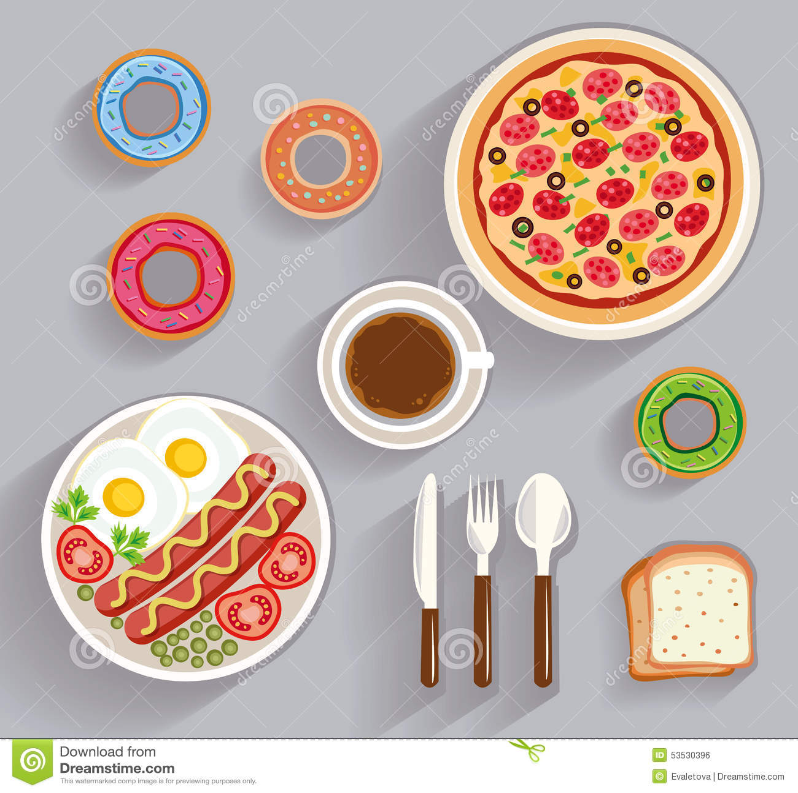 Biznesowy lunch, obiadowy blata widok
