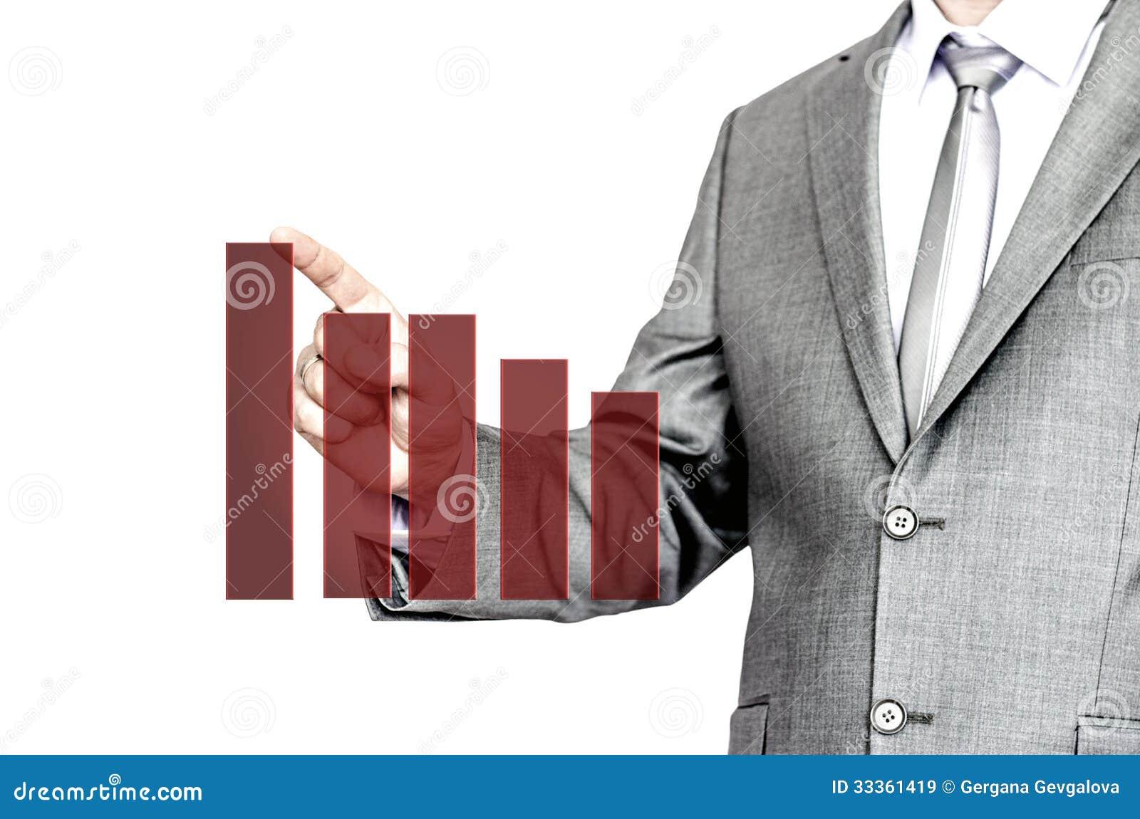 Biznesowy mężczyzna wskazuje przy mapą