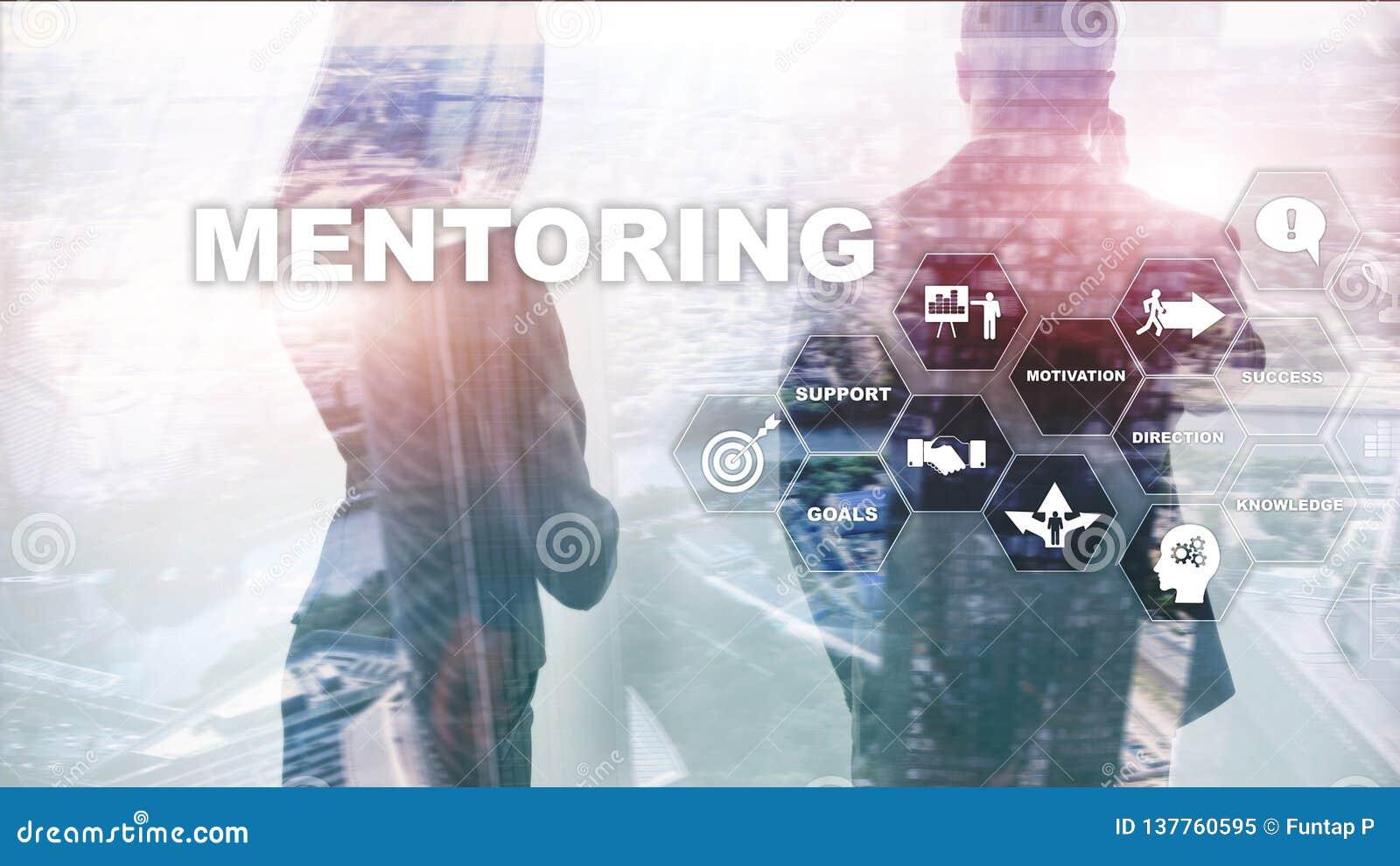 Biznesowy obowiązki mentora Osobisty trenowanie Stażowy osobisty rozwoju pojęcie Mieszani środki