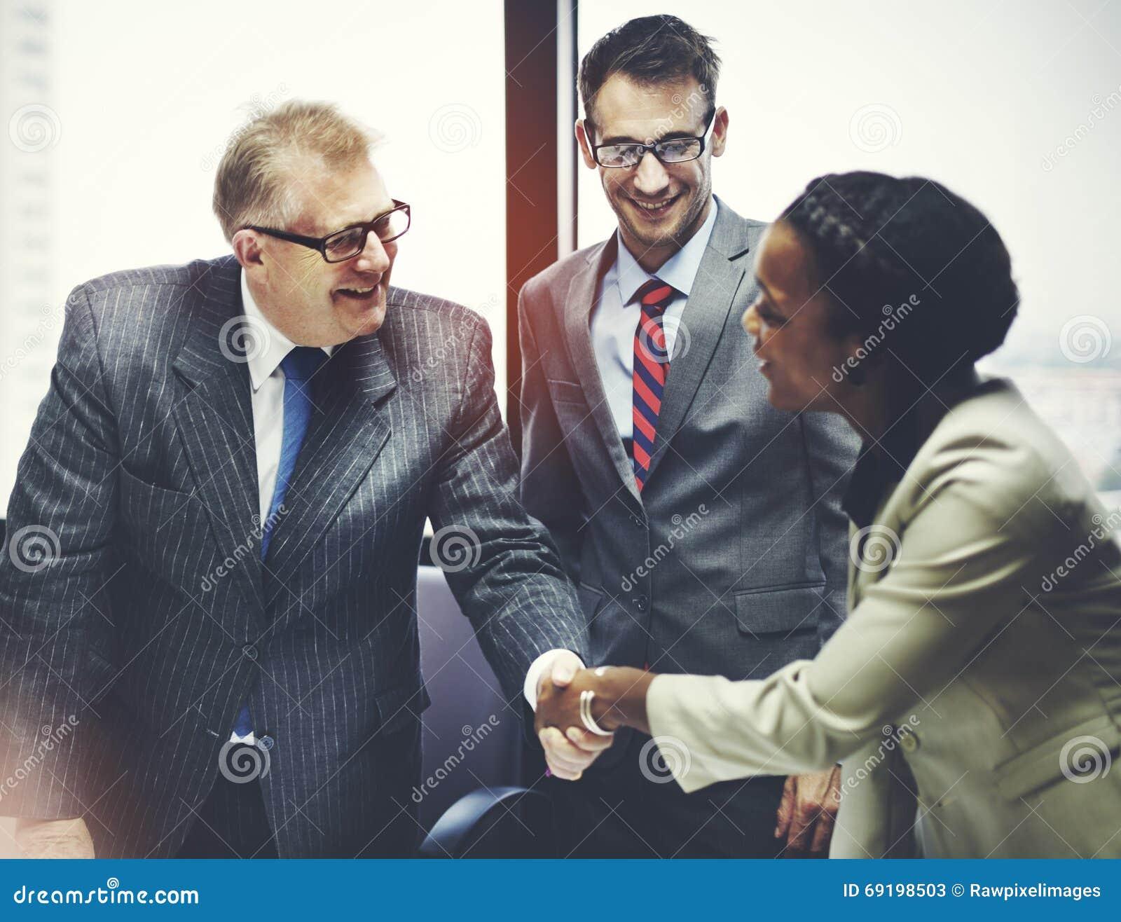 Biznesowy Peope uścisku dłoni powitania transakci pojęcie