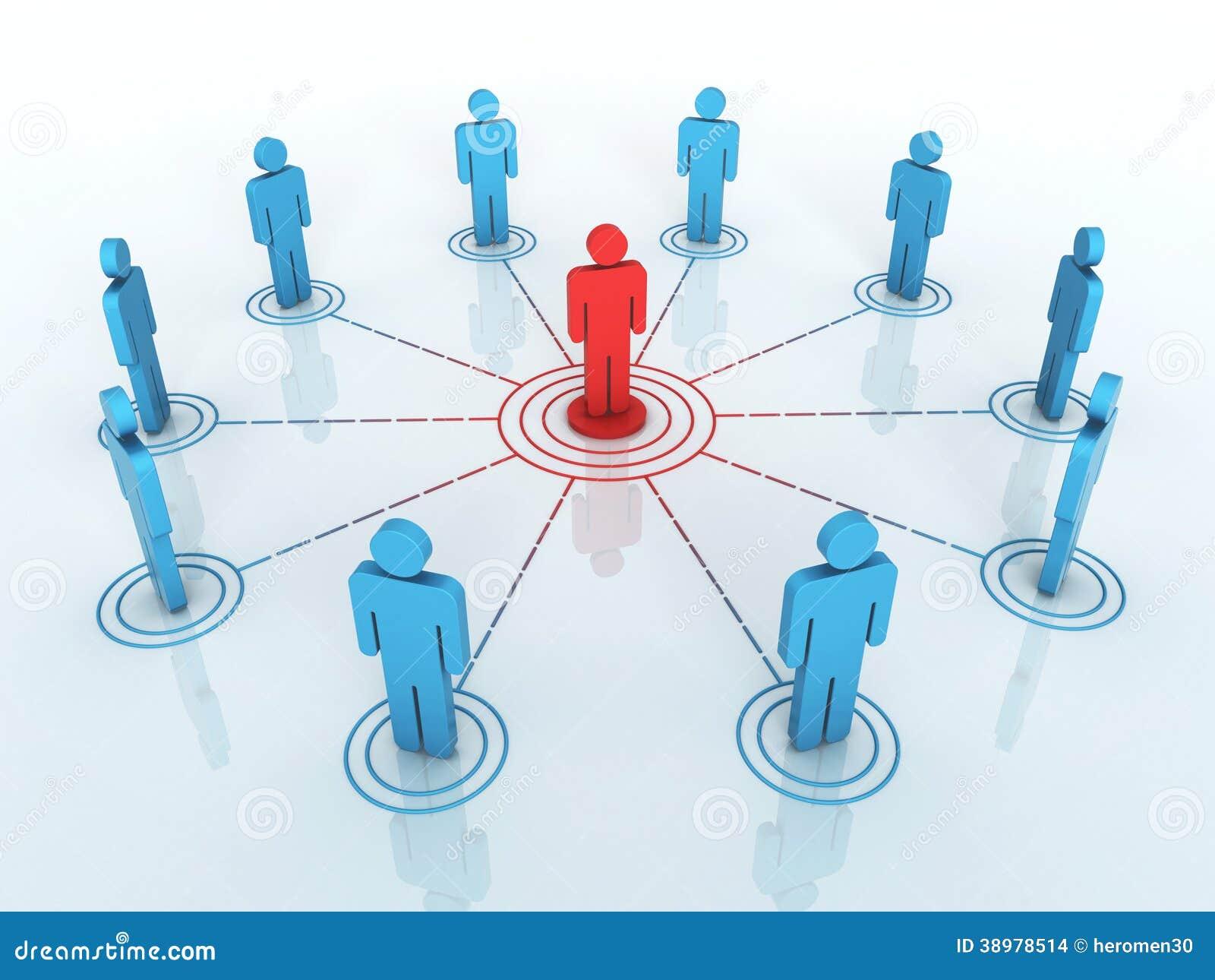Biznesowy sieć wykres