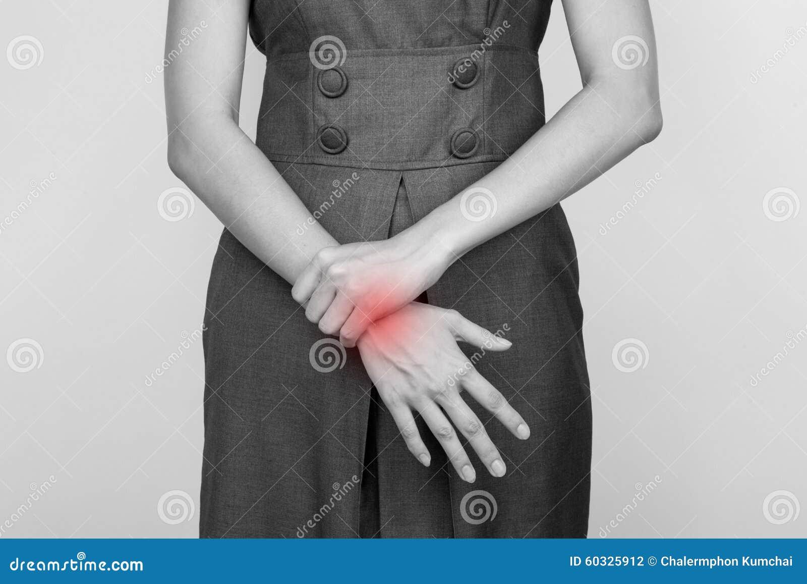 Biznesu bólowy kobiety nadgarstek
