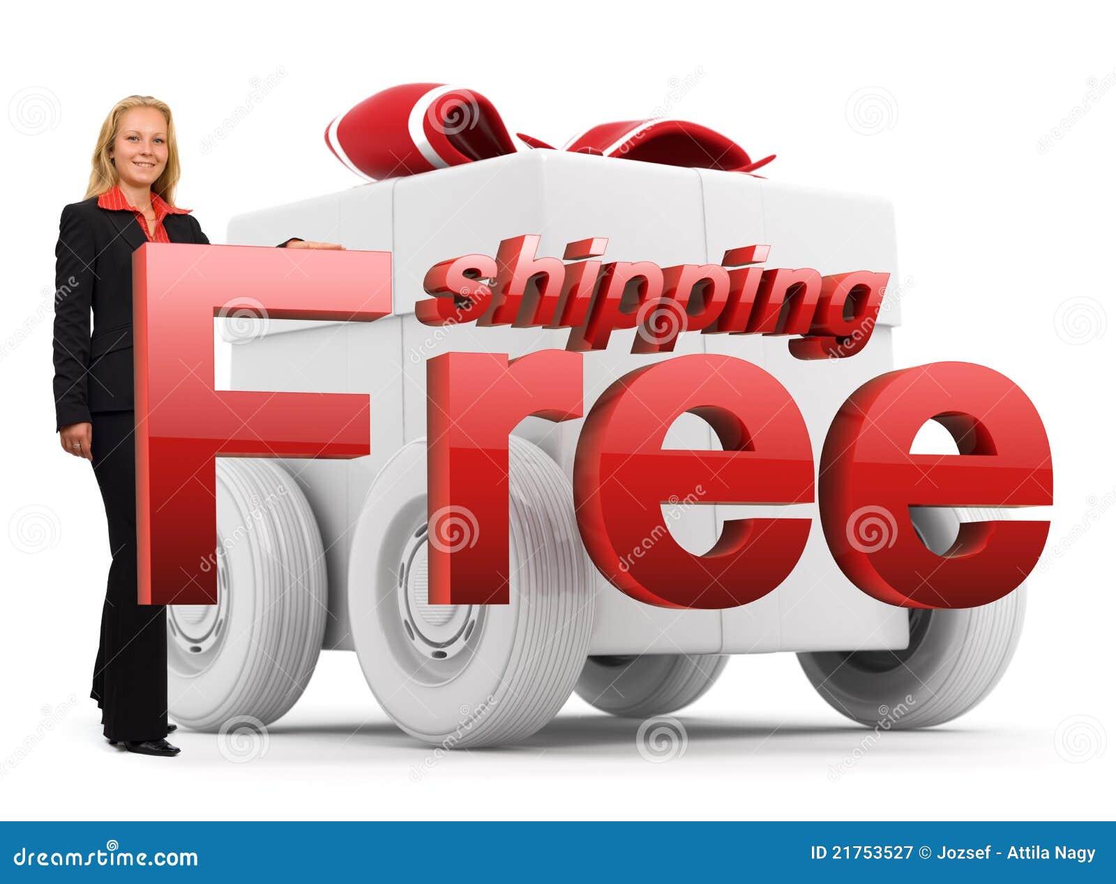 Biznesu bezpłatnej ikony czerwona wysyłki kobieta