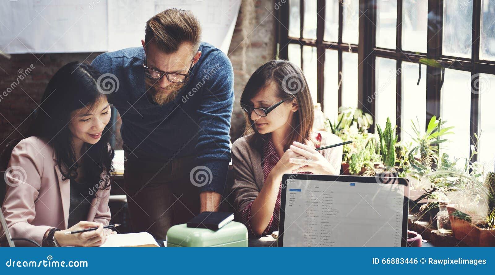 Biznesu Drużynowy Korporacyjny Marketingowy Pracujący pojęcie