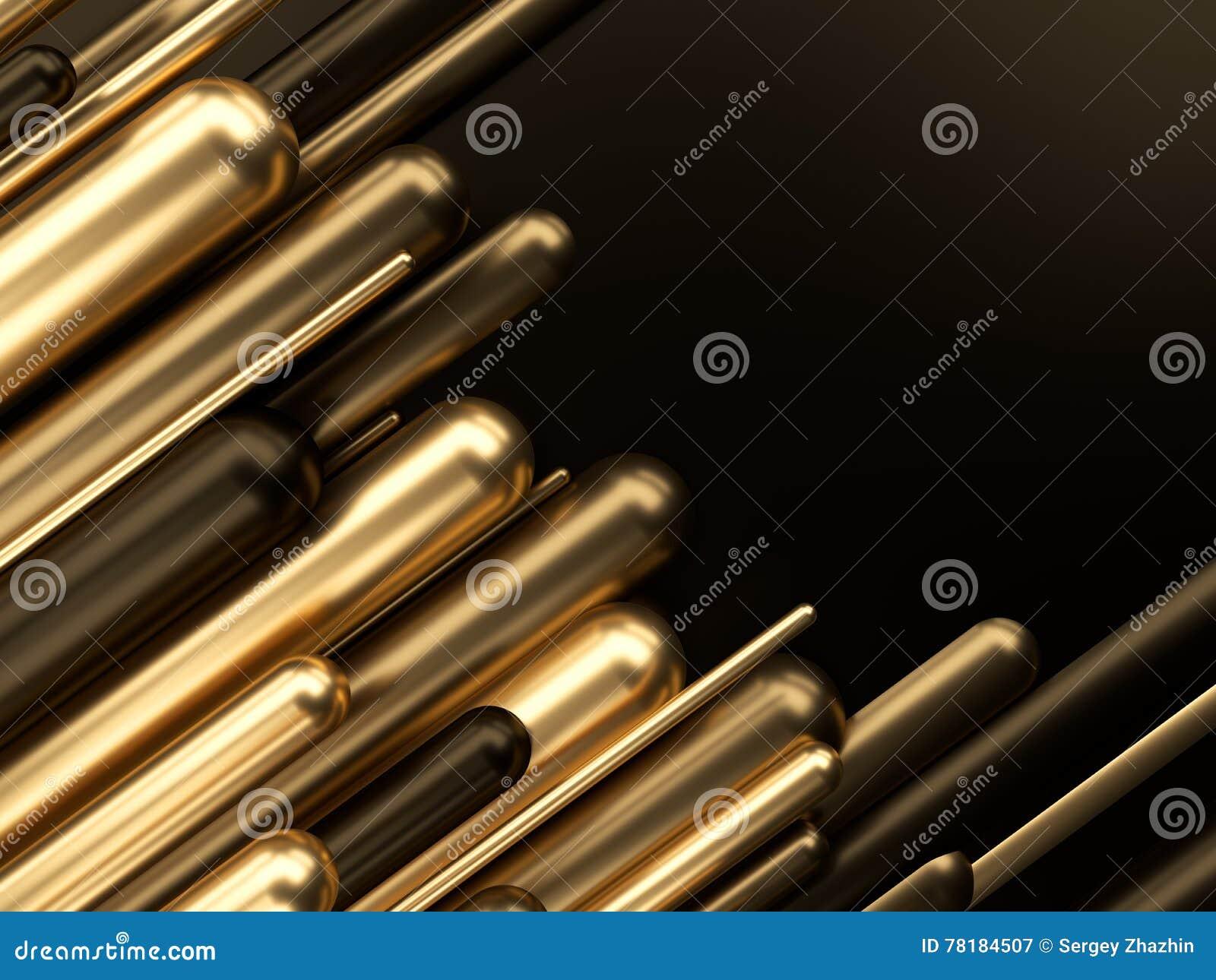 Biznesu finansowego sukcesu luksusu 3d złocista ilustracja