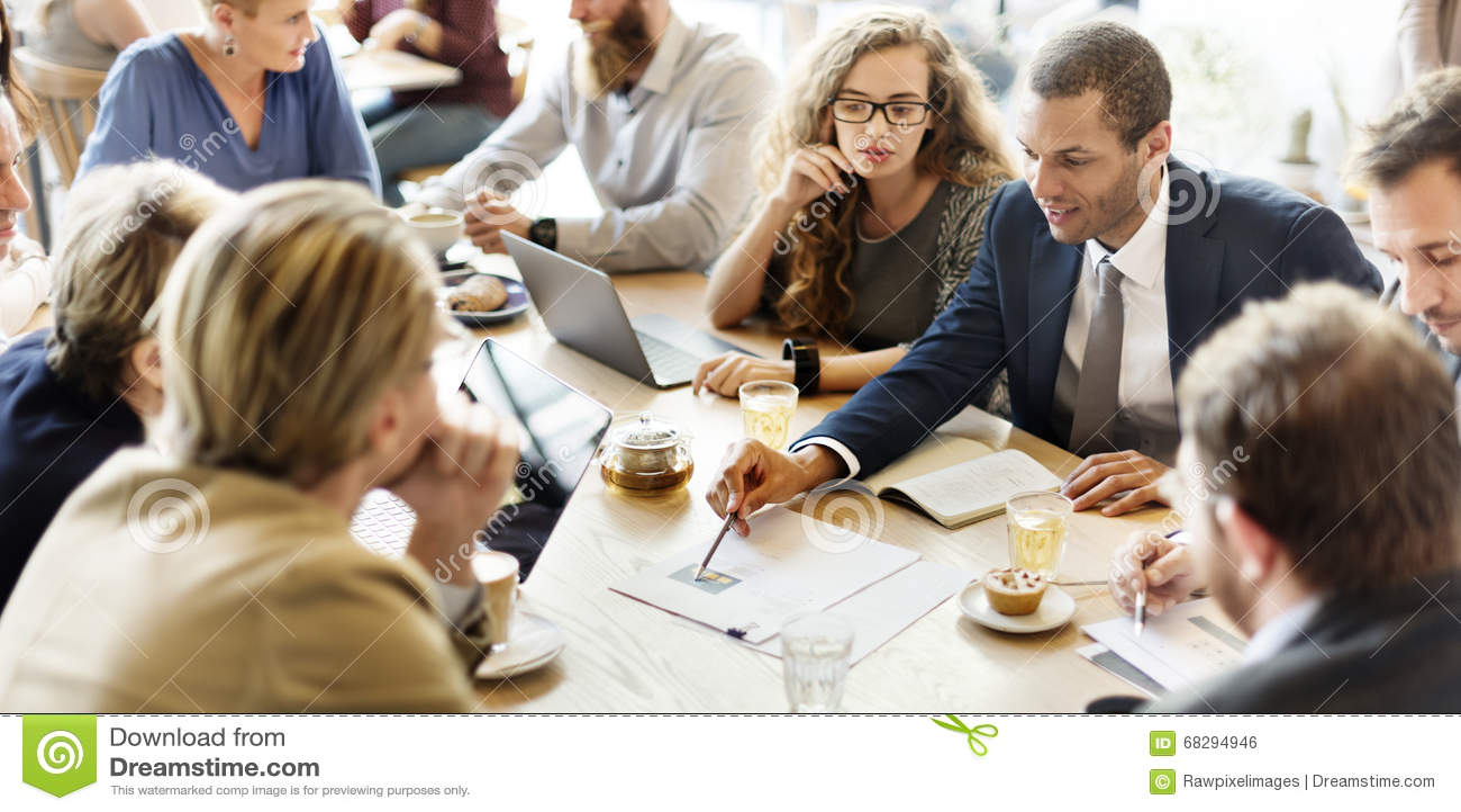 Biznesu spotkania Drużynowej strategii Marketingowy Cukierniany pojęcie