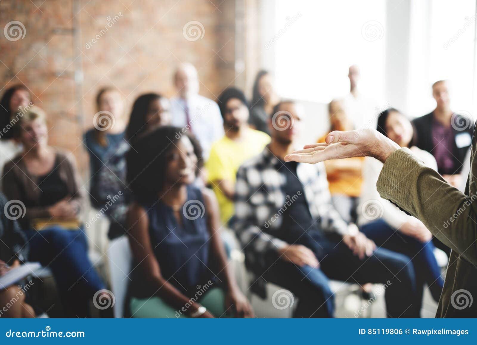 Biznesu spotkania Drużynowy Seminaryjny Słuchający pojęcie