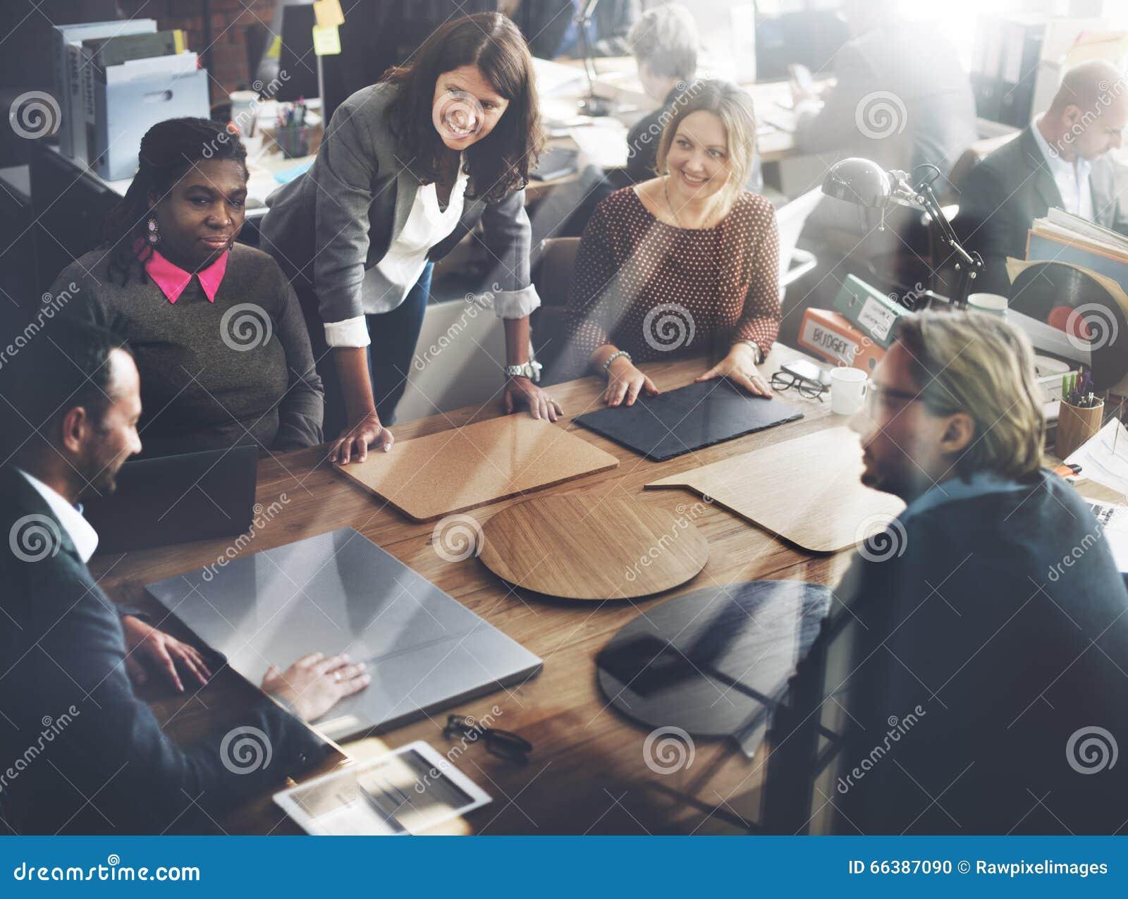 Biznesu spotkania projekta planowania Drużynowy pojęcie