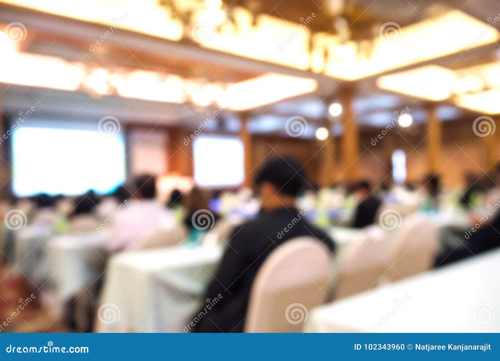 Biznesu zamazany tło Konwersatorium i konferencja w conventio