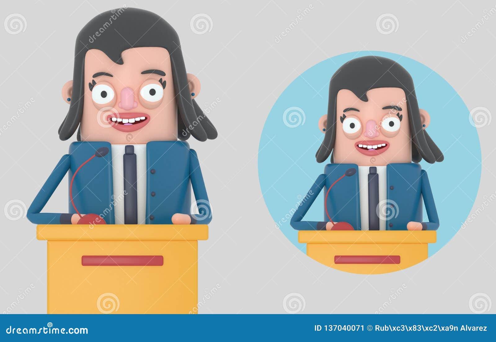 Bizneswoman daje spotkania odosobniony