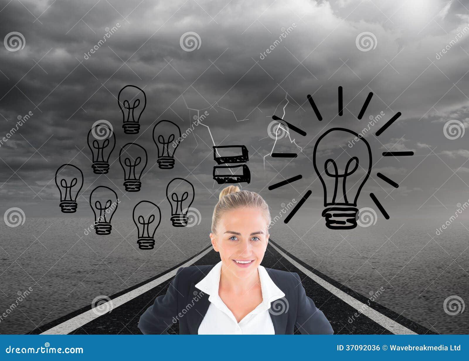 Download Bizneswoman Pozycja Z Rękami Na Biodrach Zdjęcie Stock - Obraz złożonej z ubierający, komputer: 37092036
