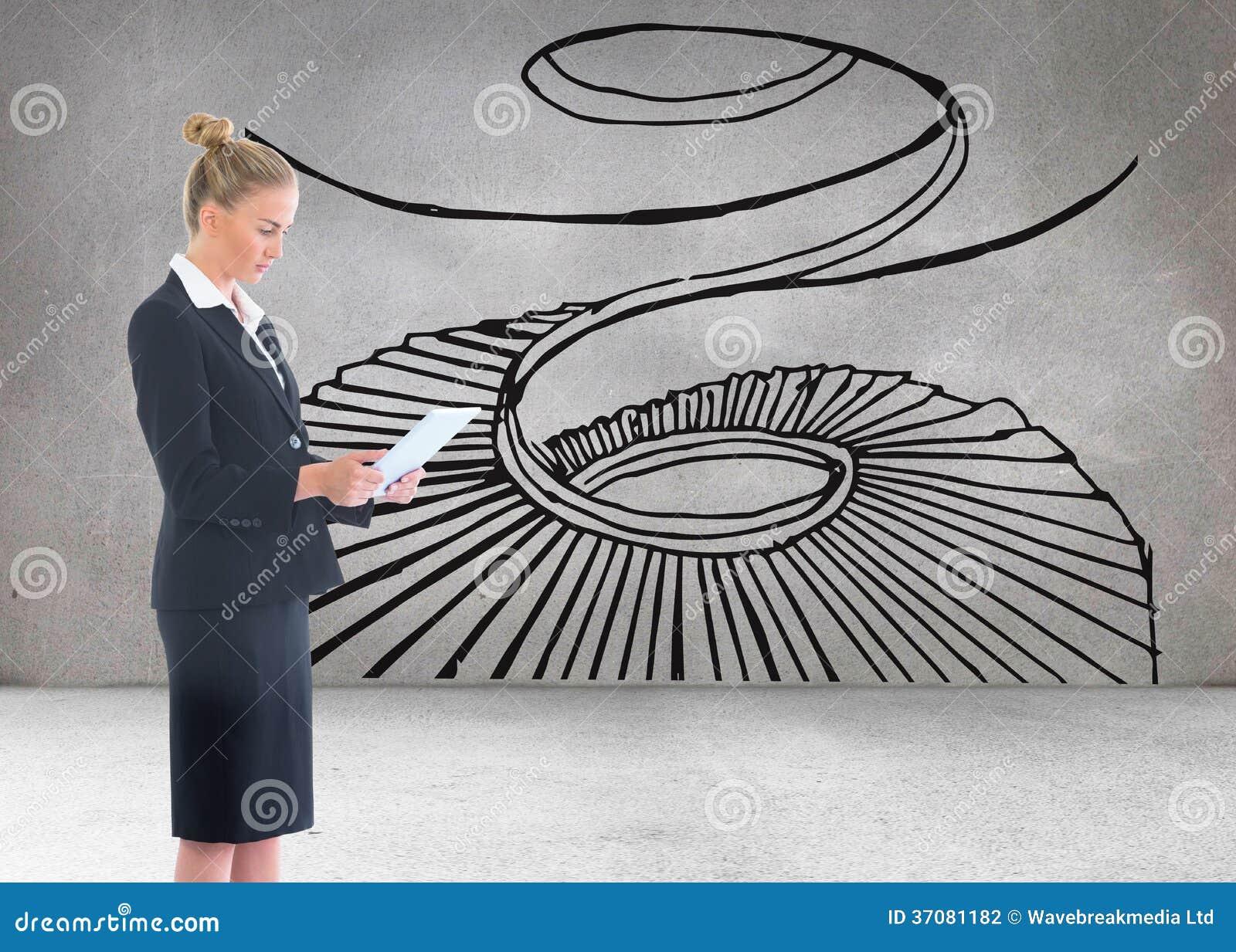 Download Bizneswoman Trzyma Nową Pastylkę Zdjęcie Stock - Obraz złożonej z digitalis, jarmark: 37081182