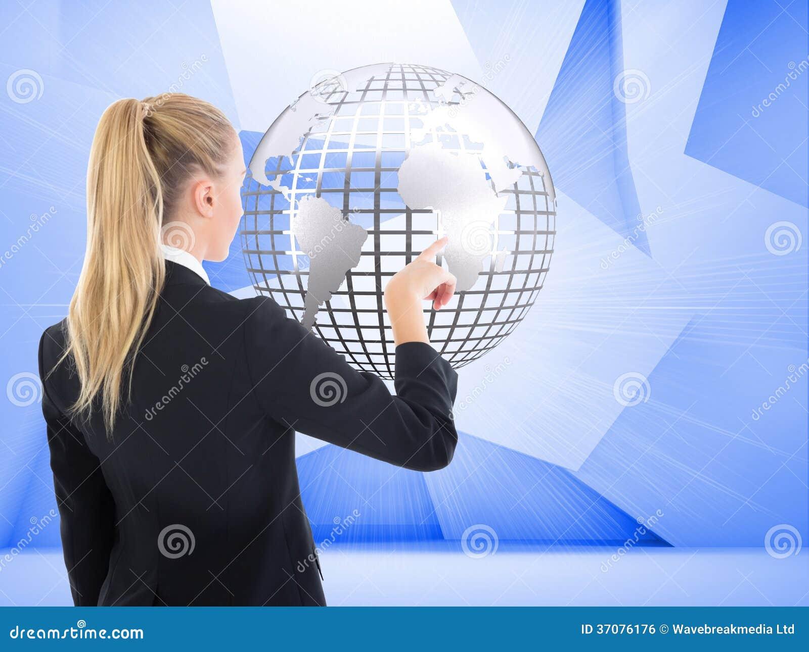 Download Bizneswoman Wskazuje Gdzieś Zdjęcie Stock - Obraz złożonej z ostrzy, griddle: 37076176